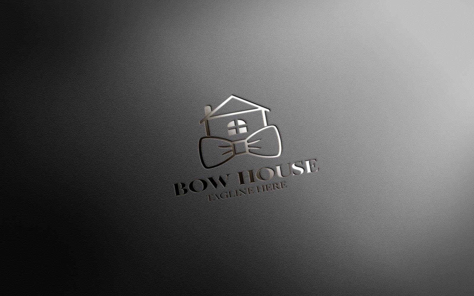 BOW HOUSE REAL ESTATE LUXURY LOGO CONCEPT