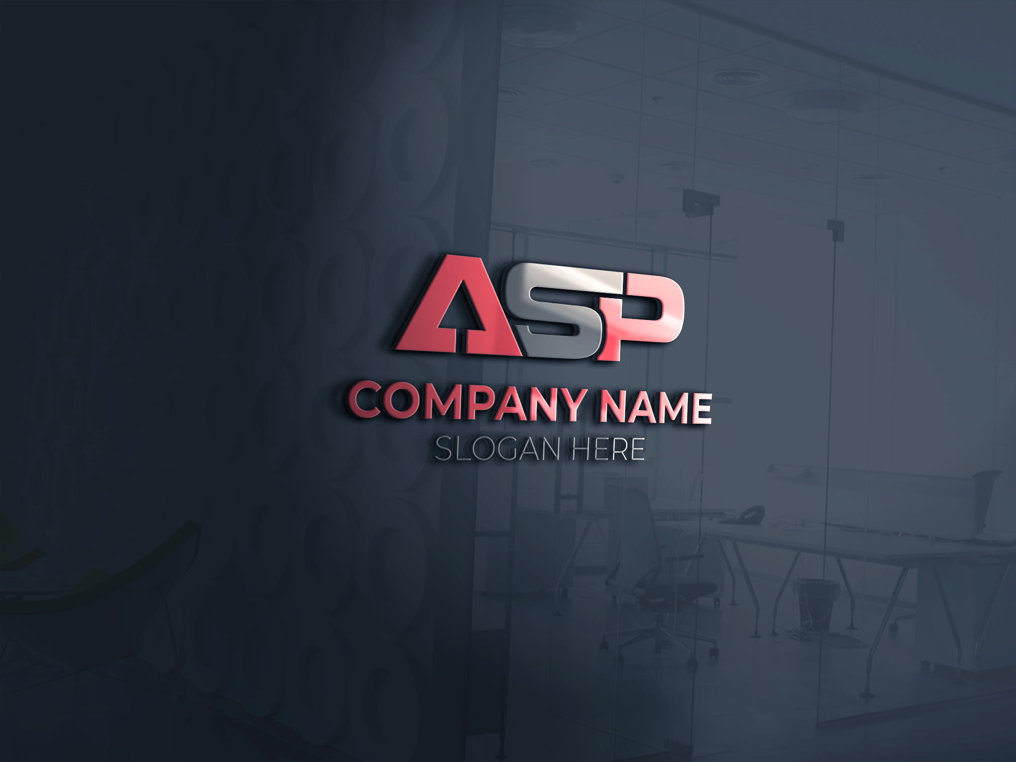 3D ASP LETTER MONOGRAM FOR FINANCE COMPANY