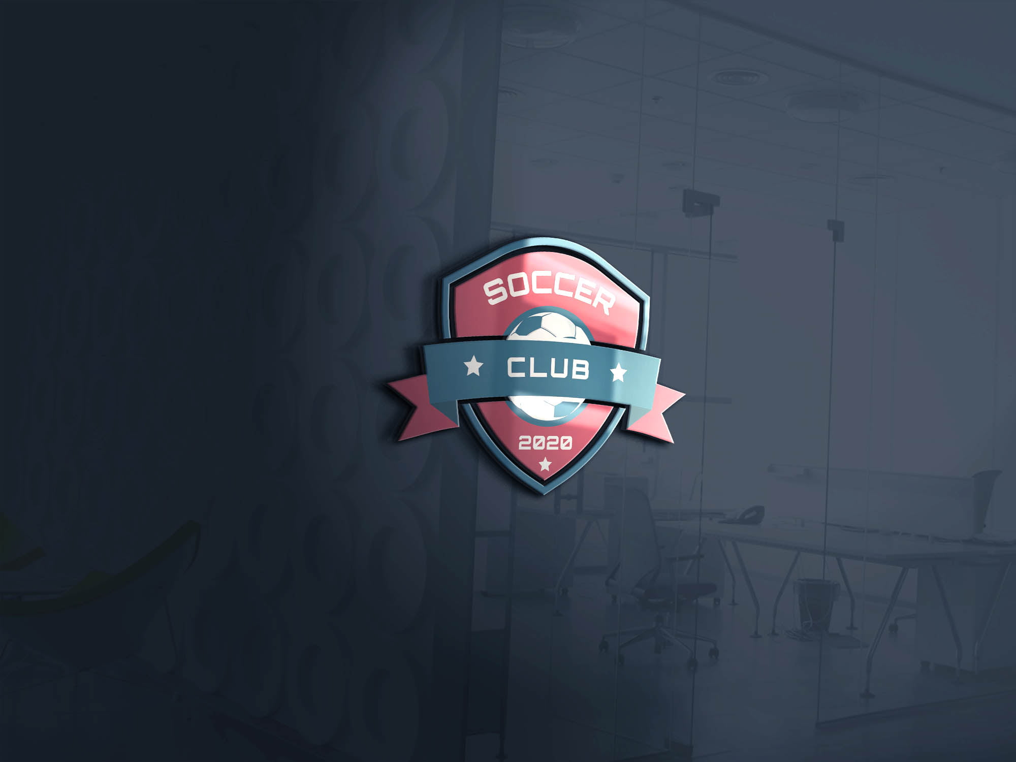3D SOCCER CLUB LOGO