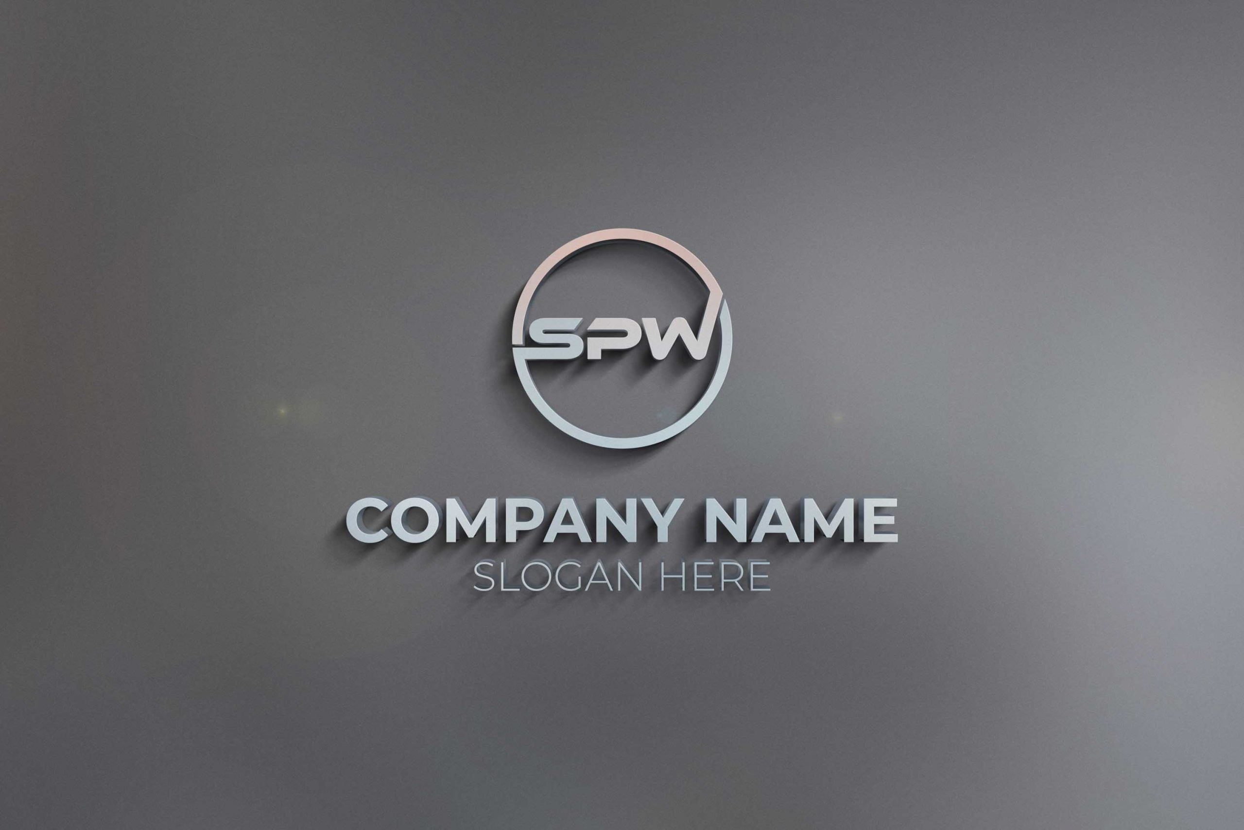 3D SPW LETTER LOGO ON WALL