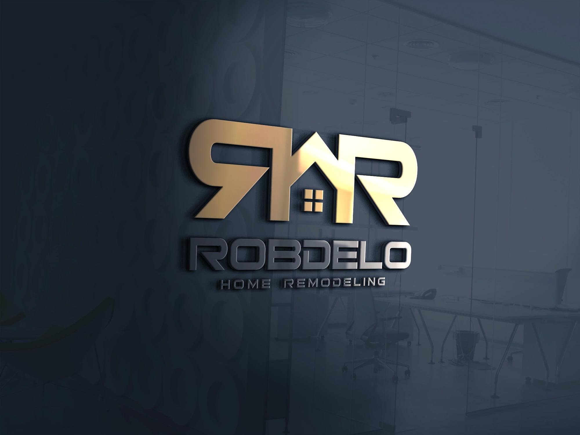 3d real estate logo design