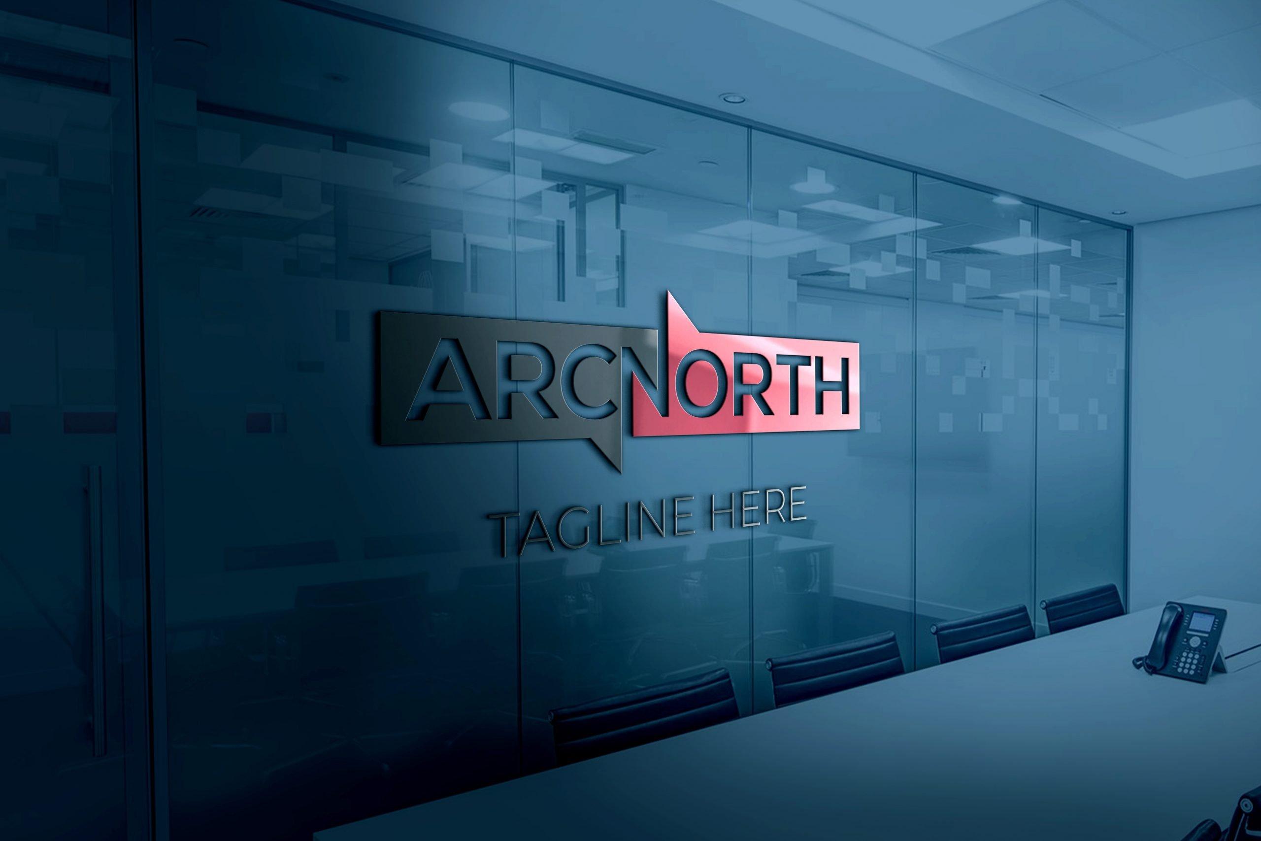 ARC LETTER ON 3D OFFICE GLASS