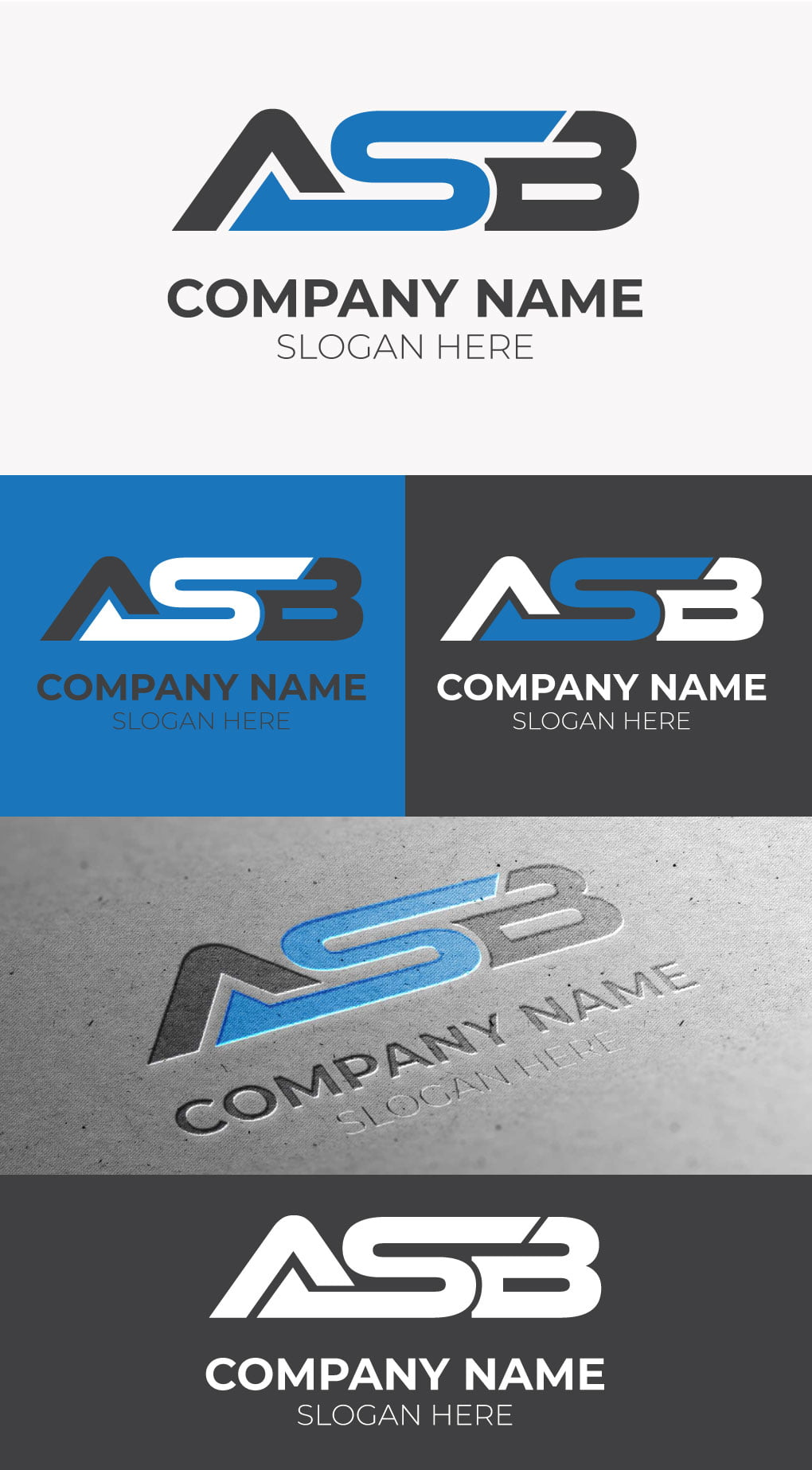 ASB LETTER LOGO FREE TEMPLATE