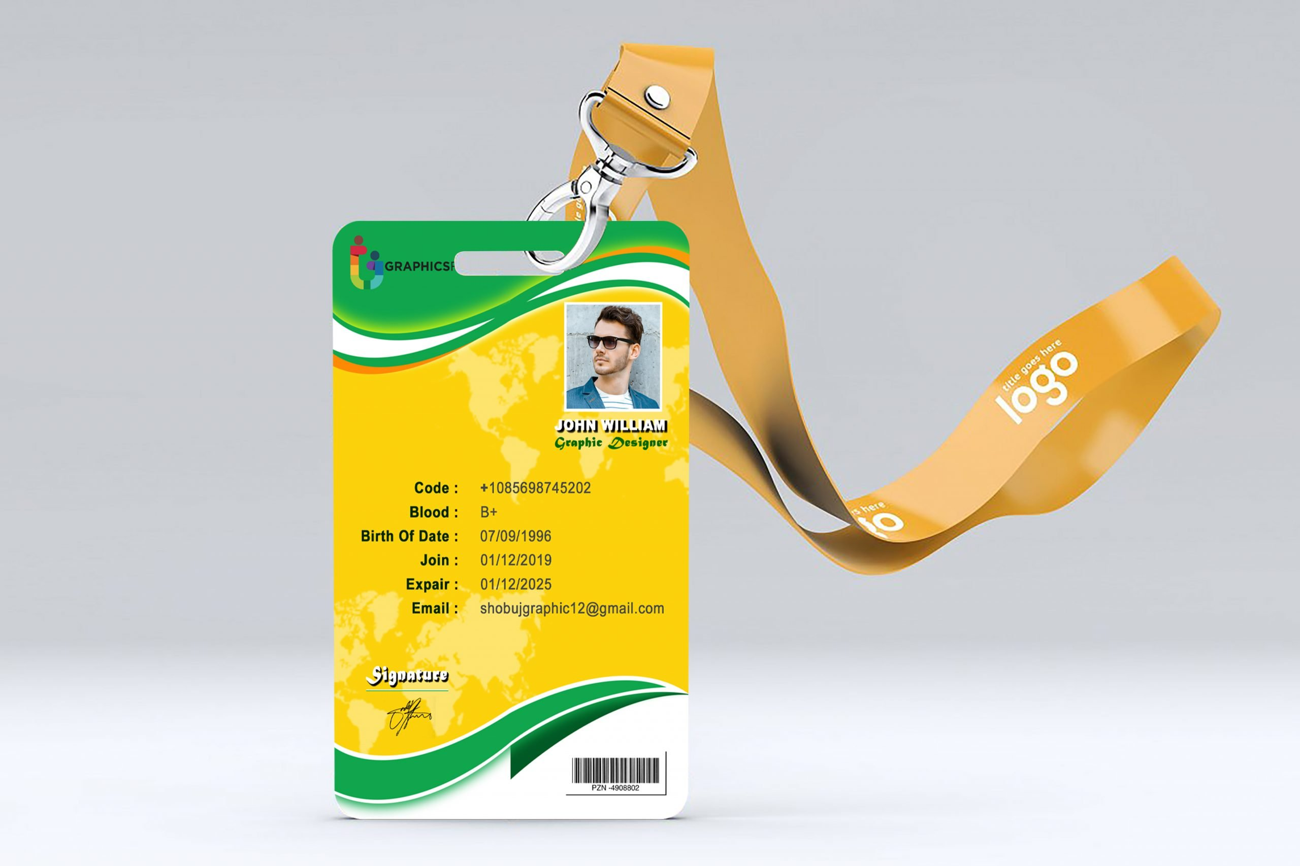 Abstract office id-card design