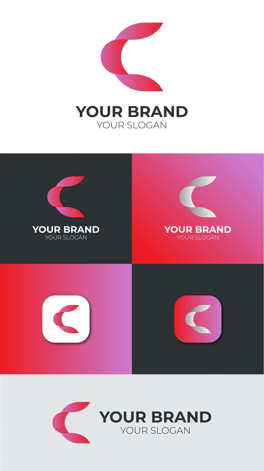 C LETTER LOGO FREE TEMPLATE
