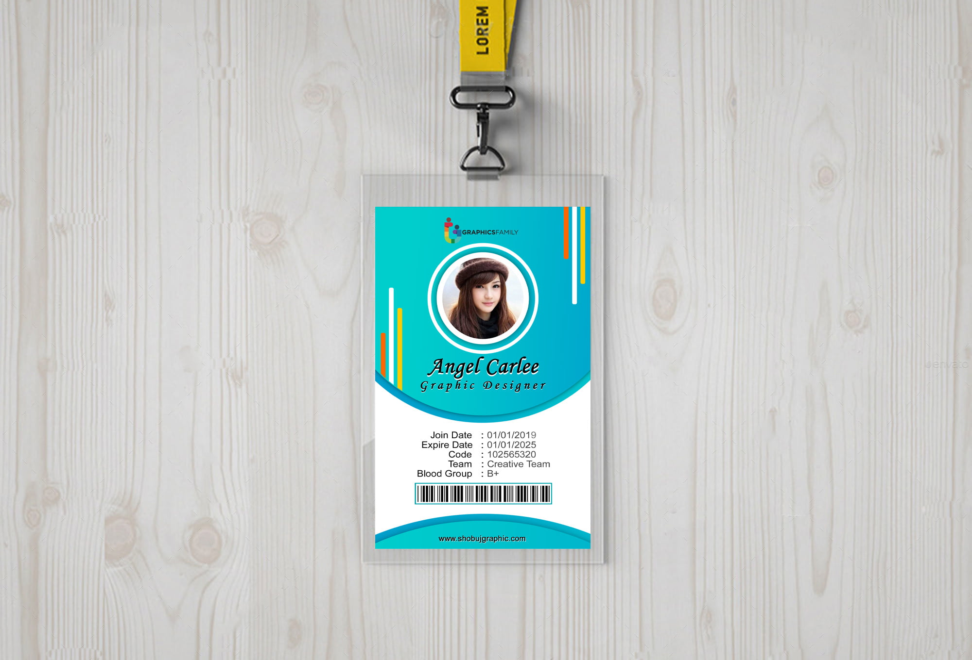 Colorful Office Id-Card template