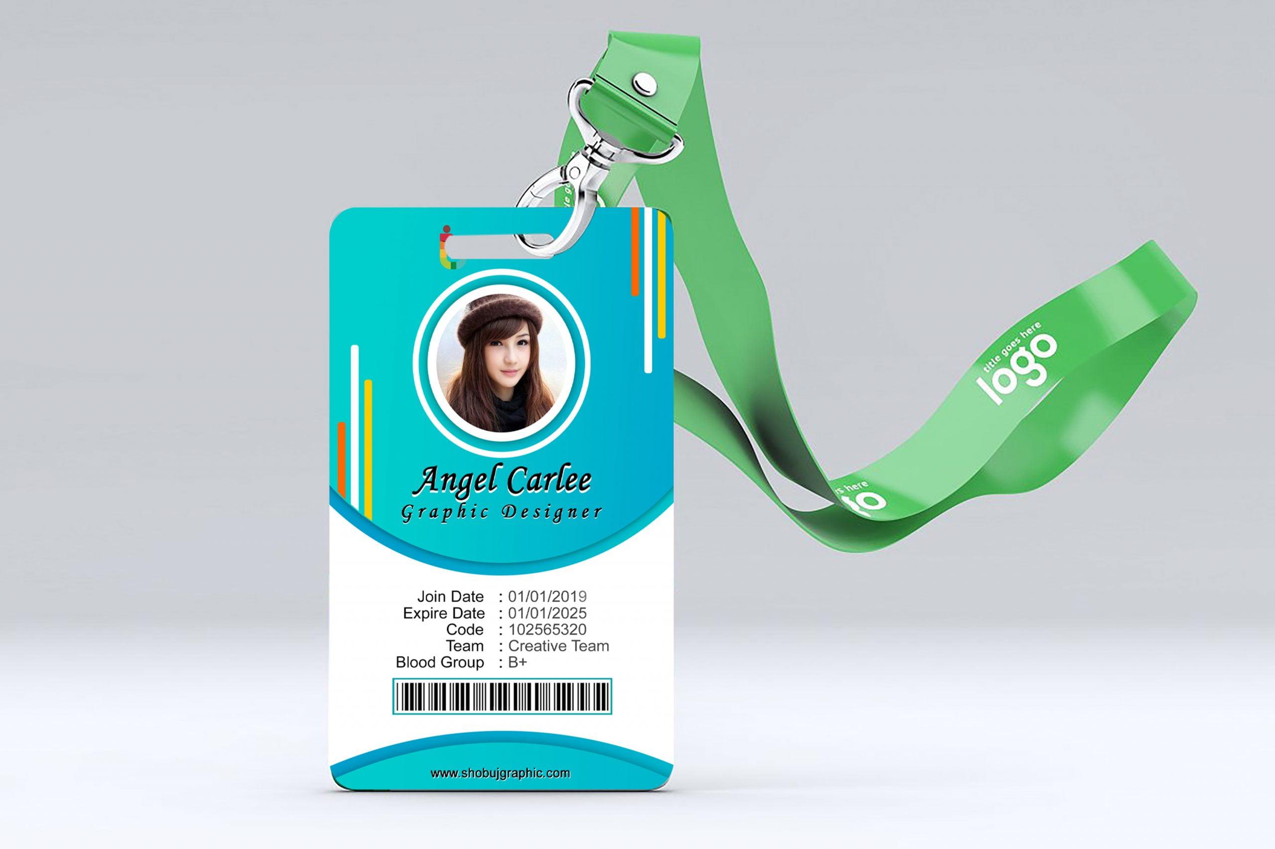 Colorful id-Card design presentation