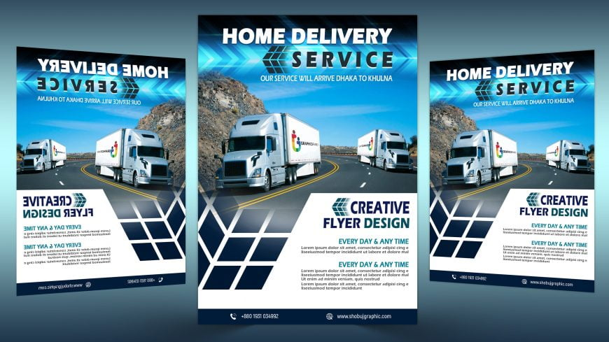 Home-delivery-free-flyer-design-scaled