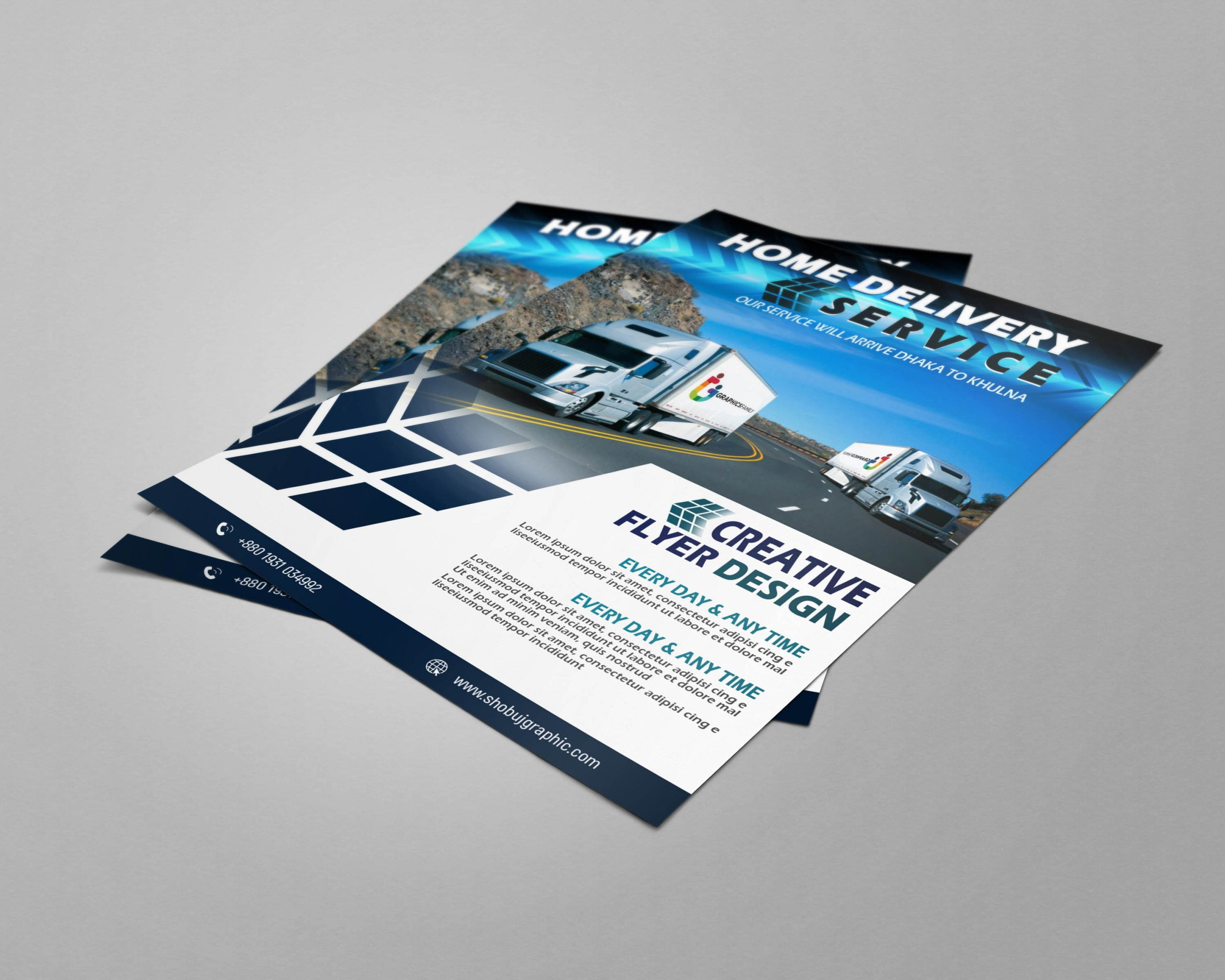 Home delivery service flyer design