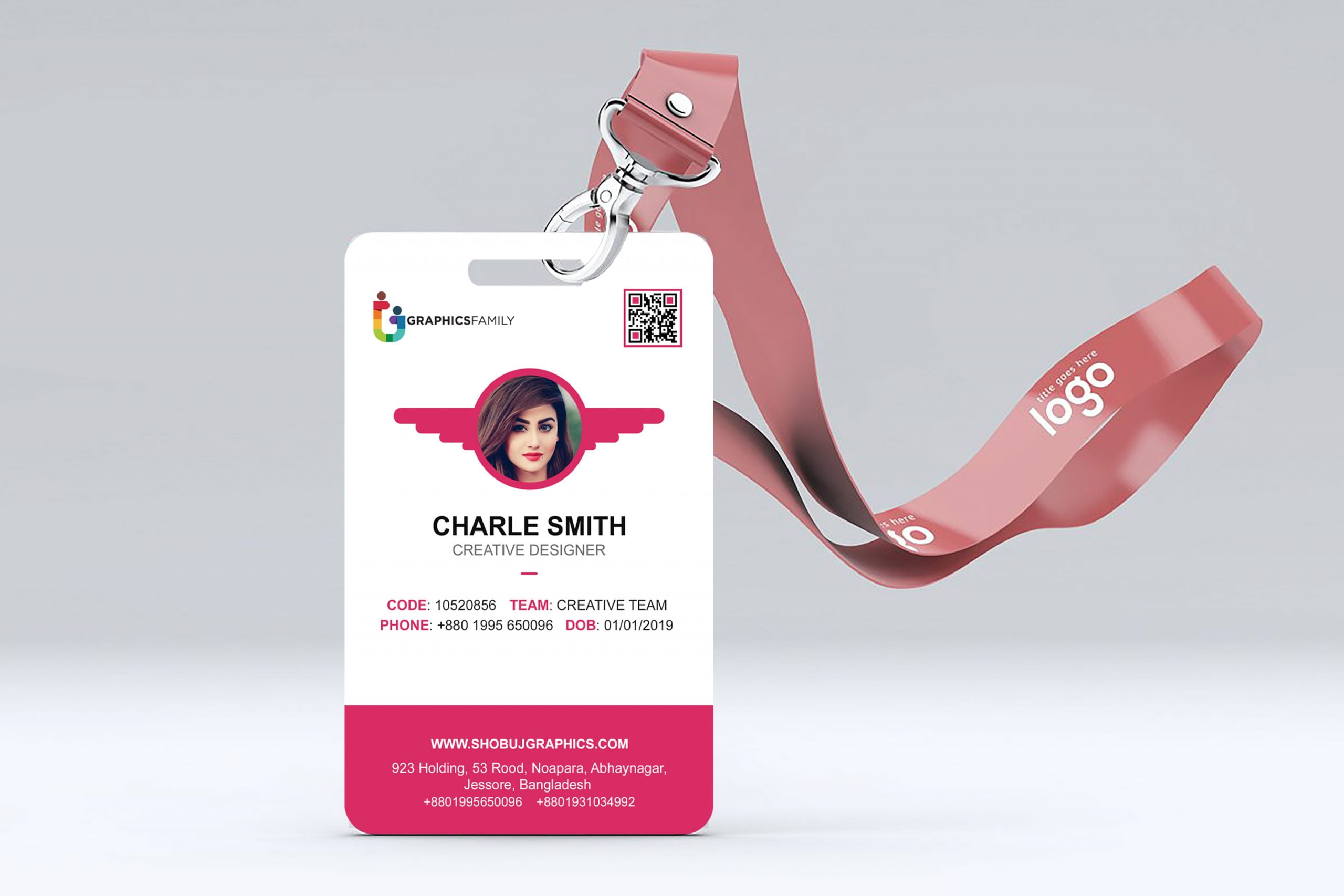 Id-Card Design with flat style