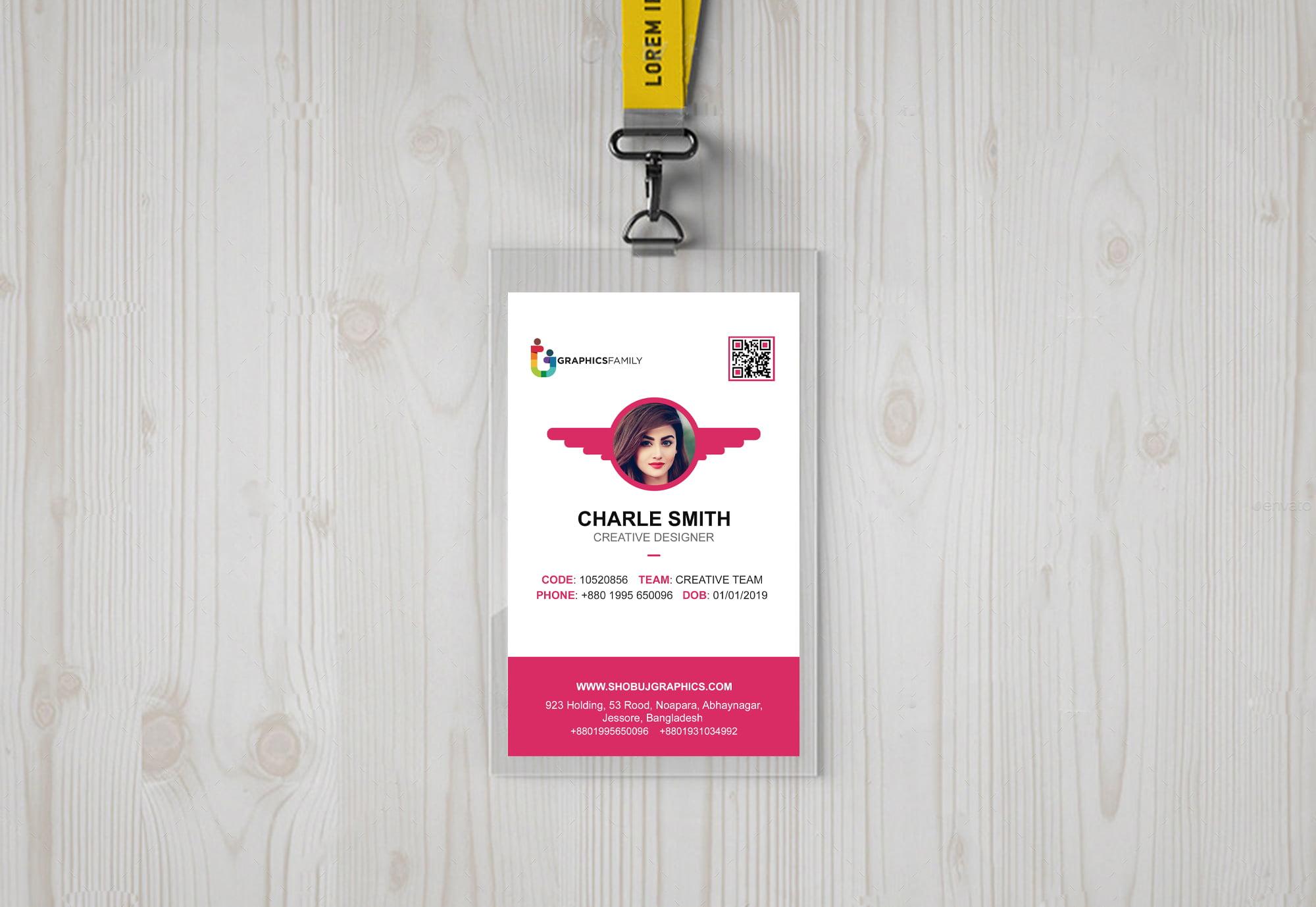 Id-card design free template