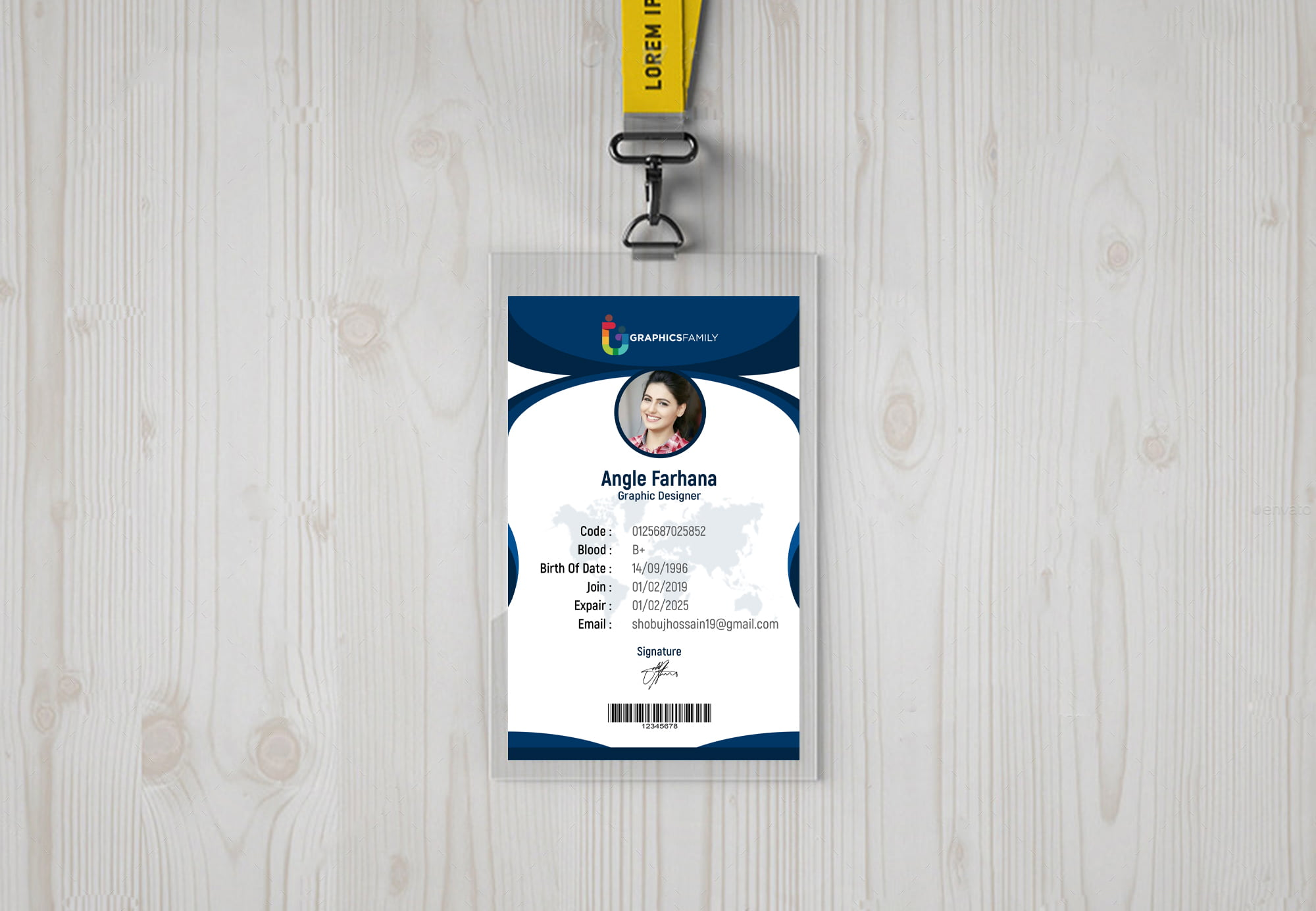 Id-card design with abstract style