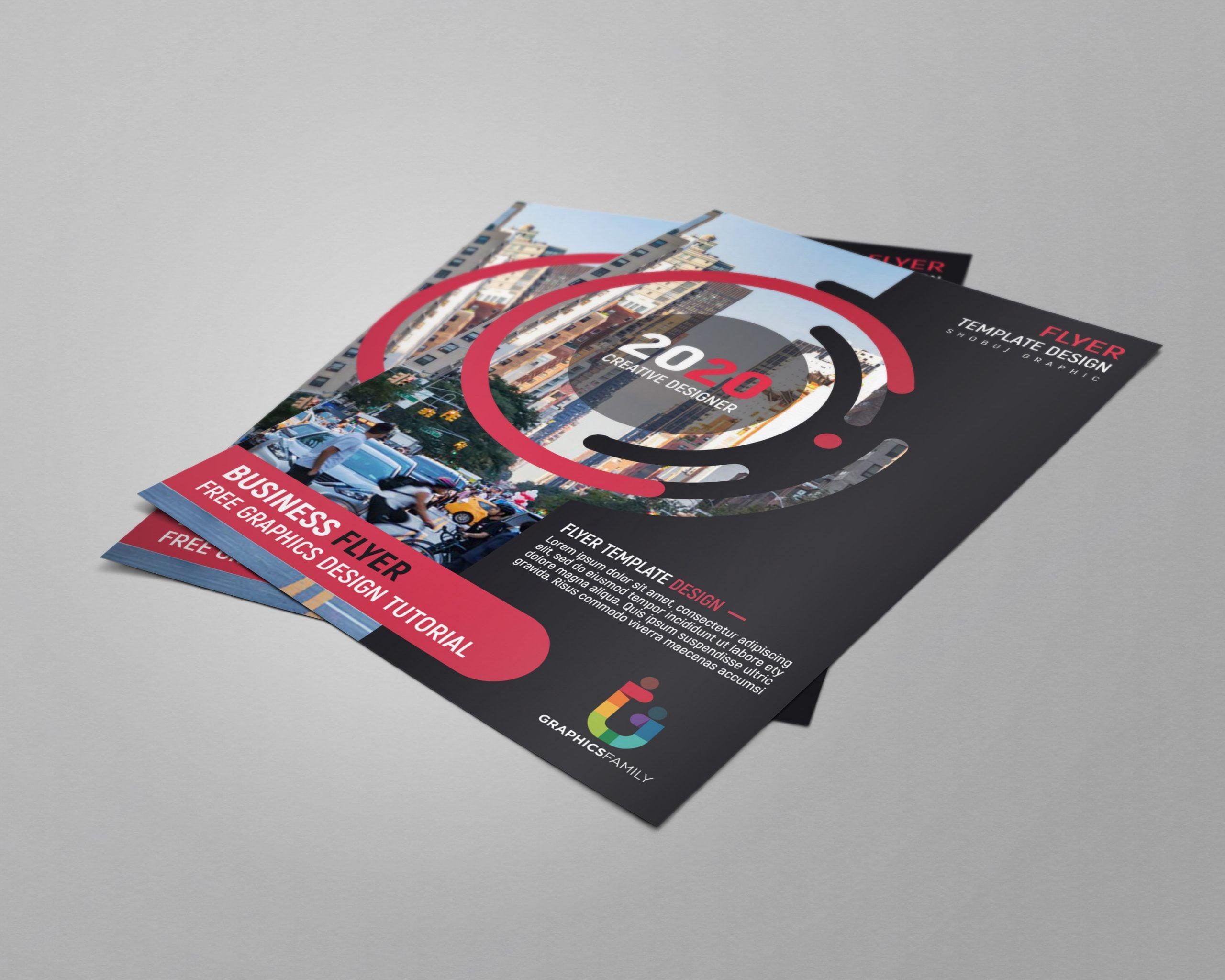Modern Business Flyer Template psd