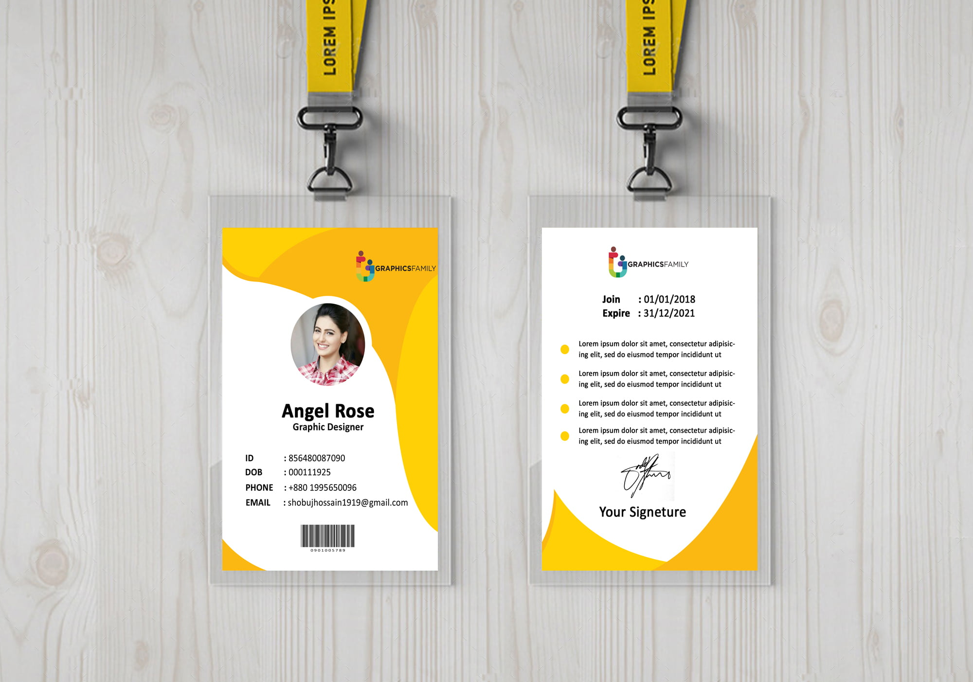 Modern Identity card with abstract style