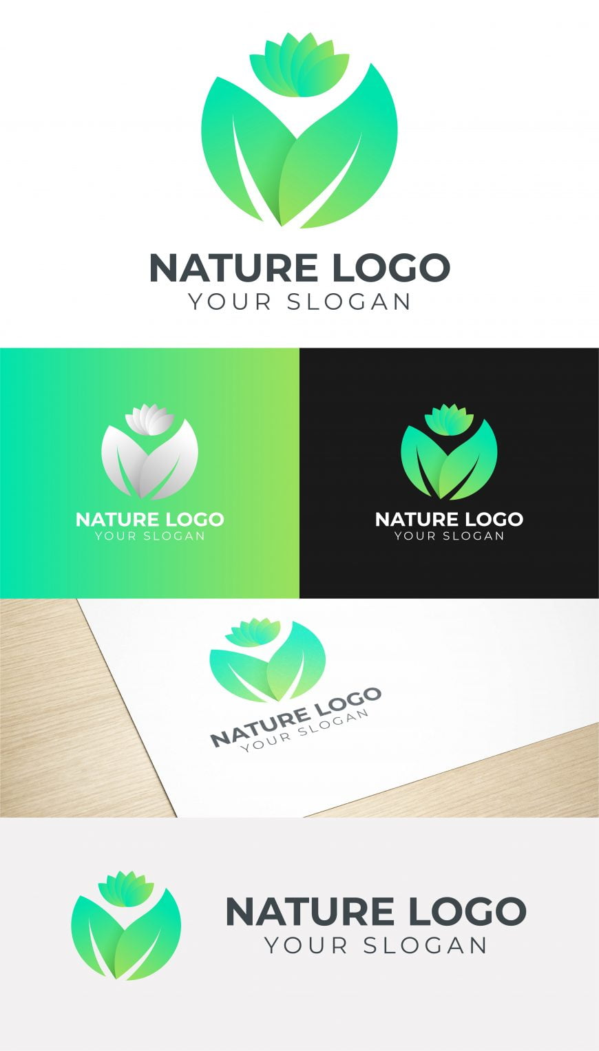 NATURE GREEN LOGO TEMPLATE
