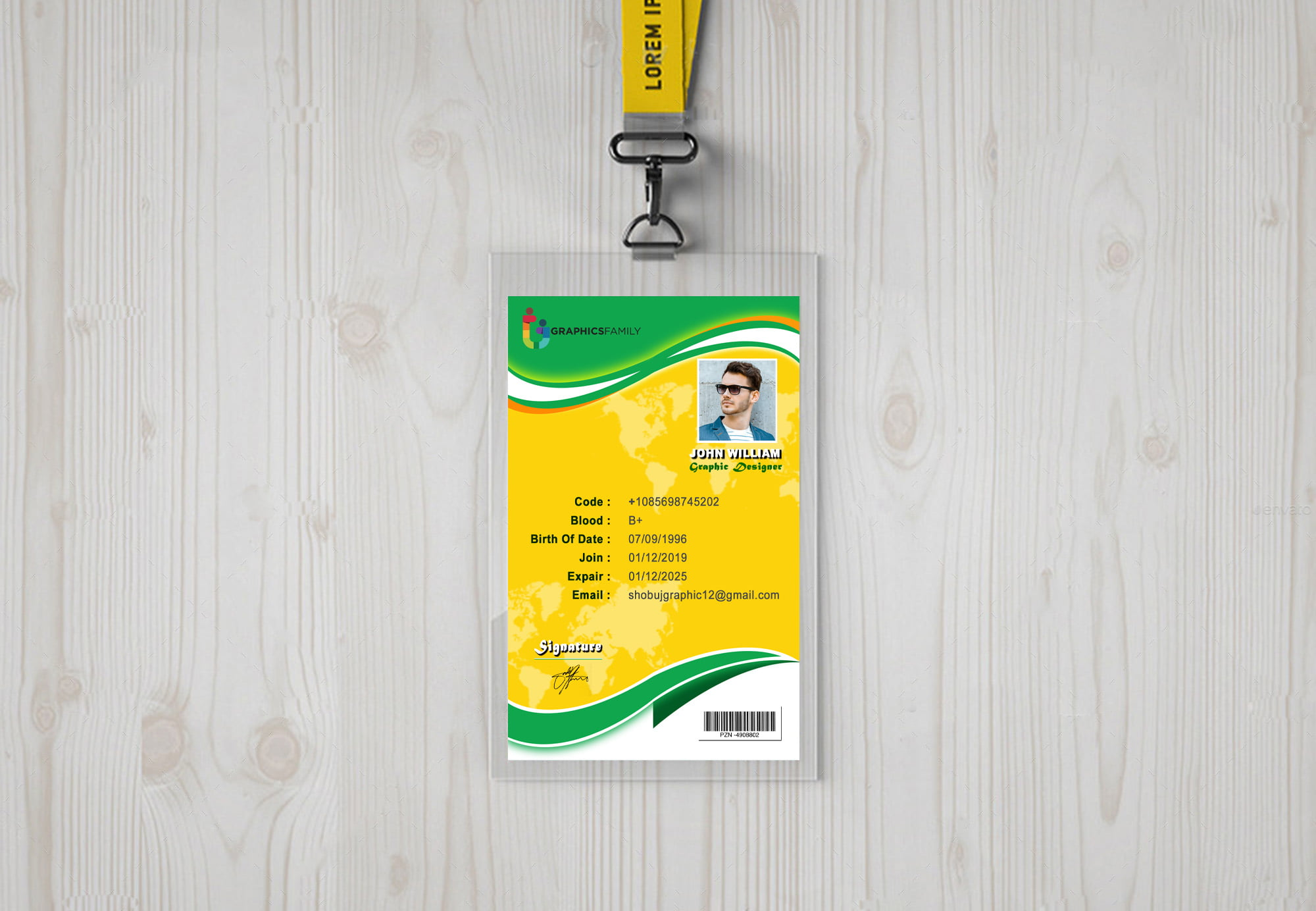 Office Id-Card with colorful style