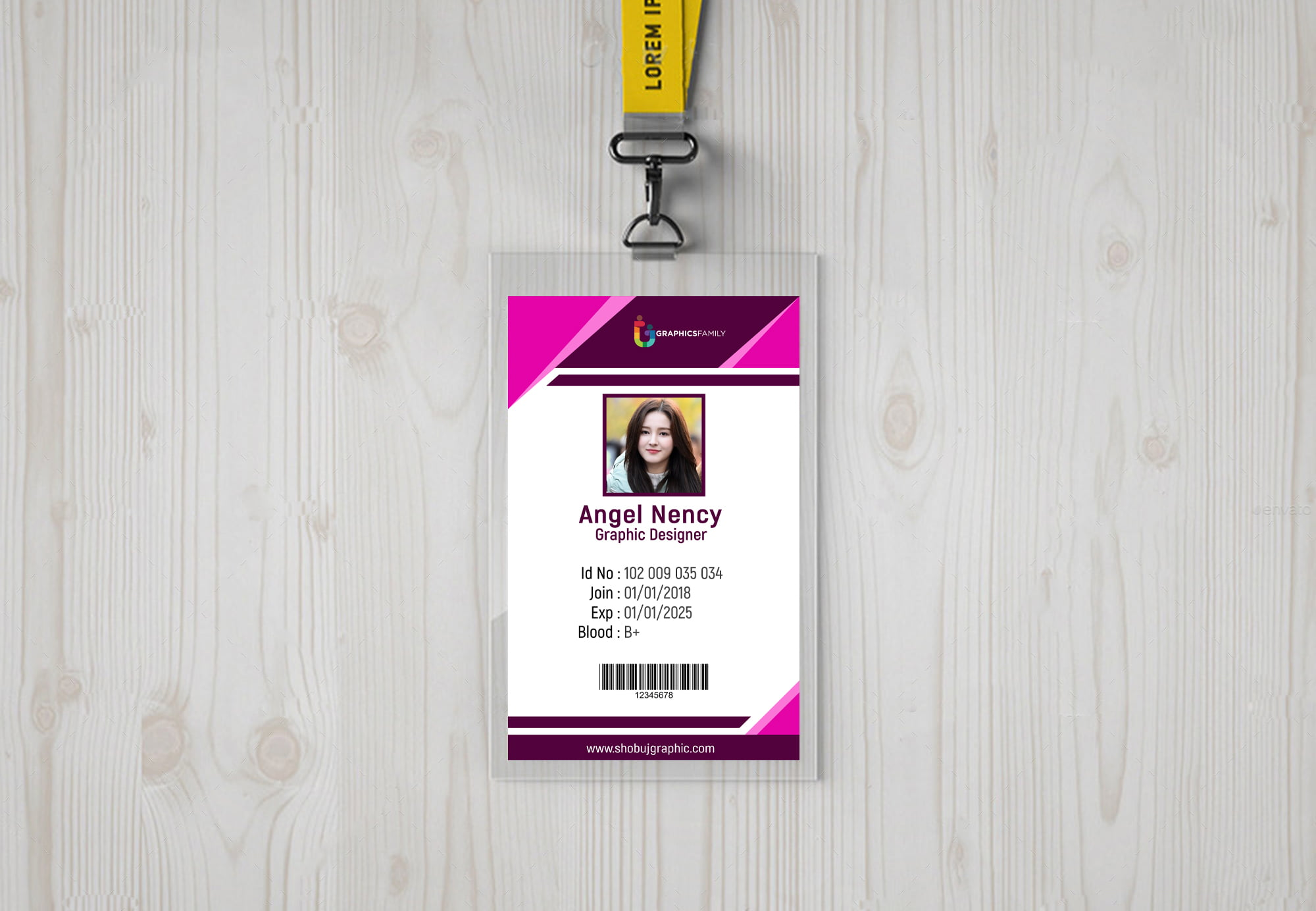 Office id Card design free