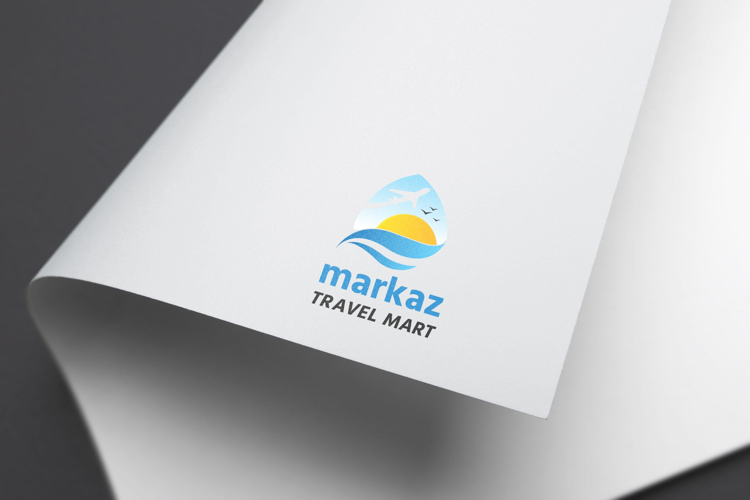 TRAVEL LOGO PAPER MOCKUPS