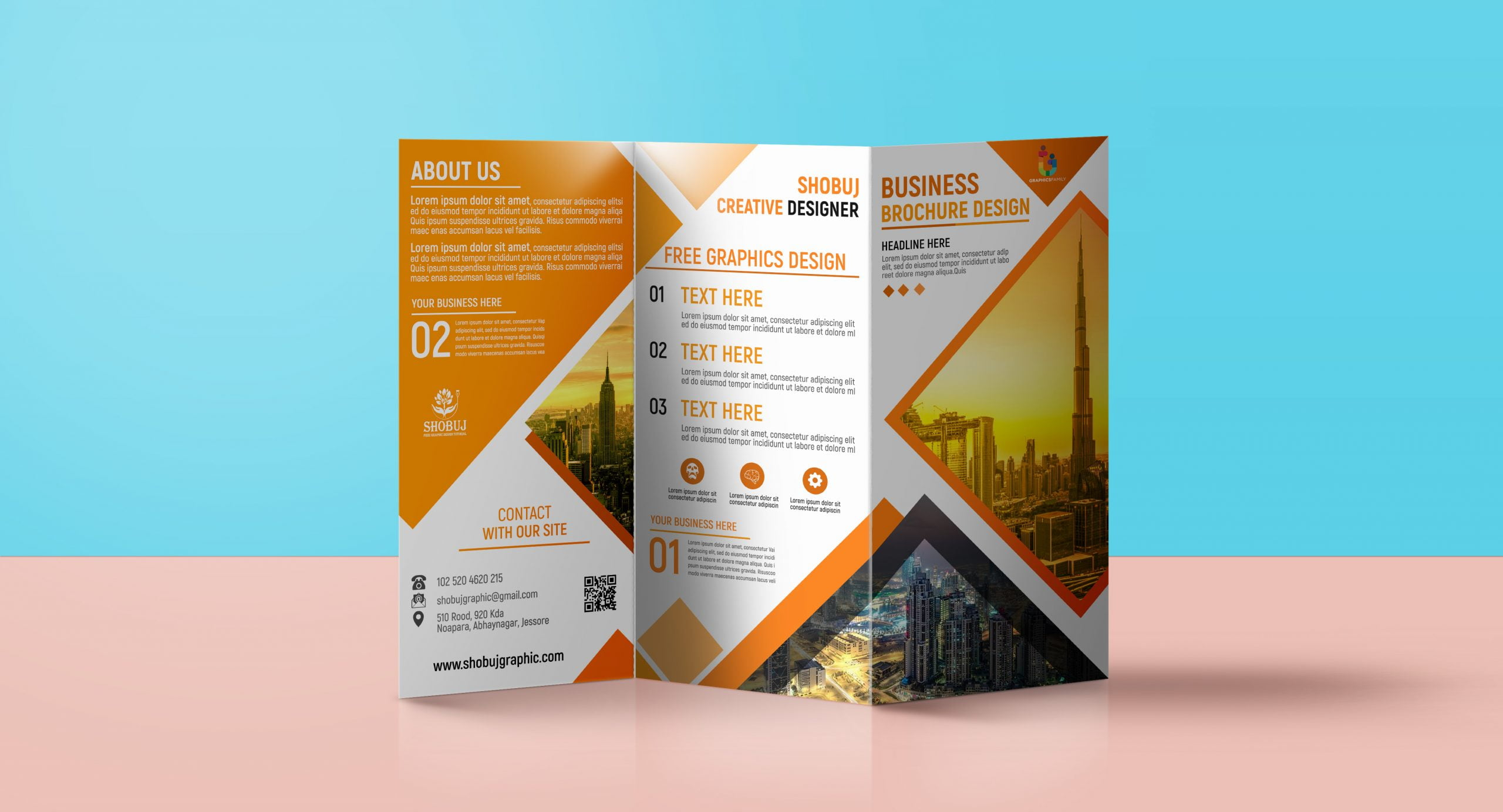 Trifold Brochure for business promotion