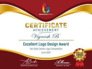 Vignesh-B-Excellent-Logo-Design-Award-Certificate