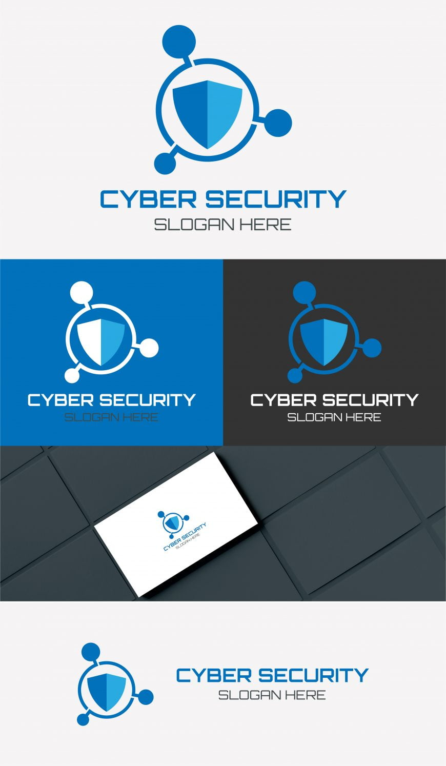 cyber security logo template