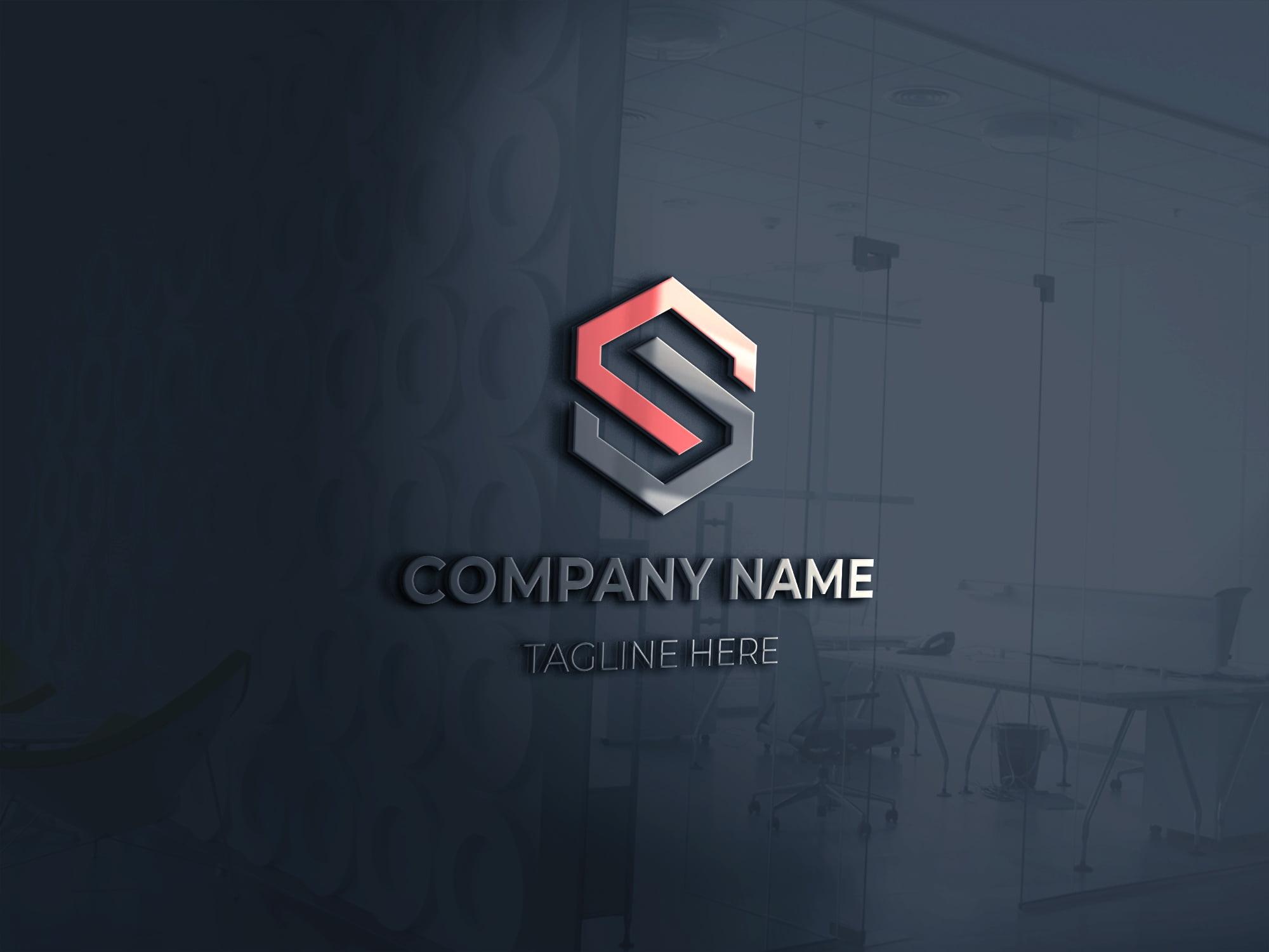3d s letter logo design presentation