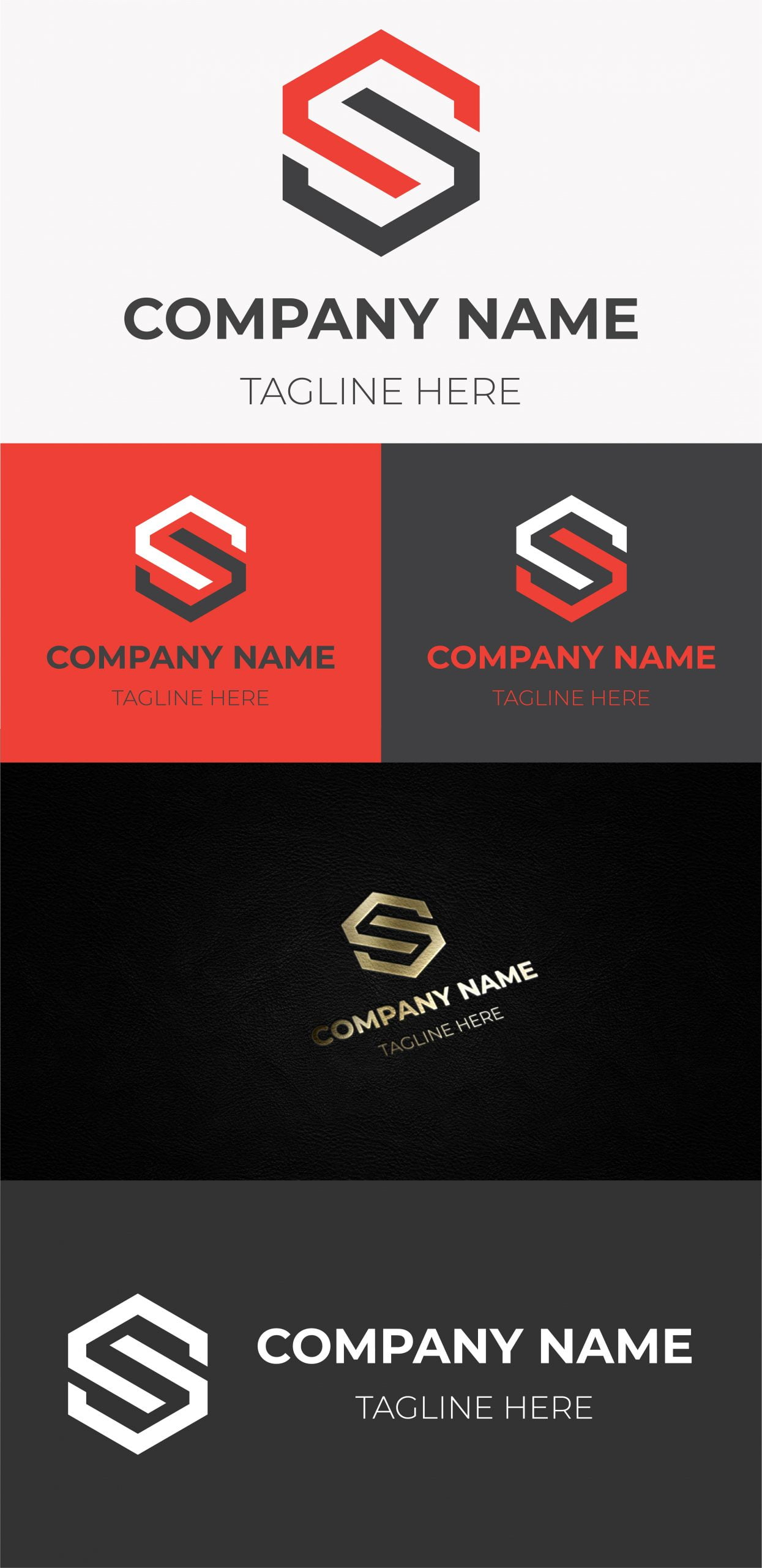 free initial s letter logo template