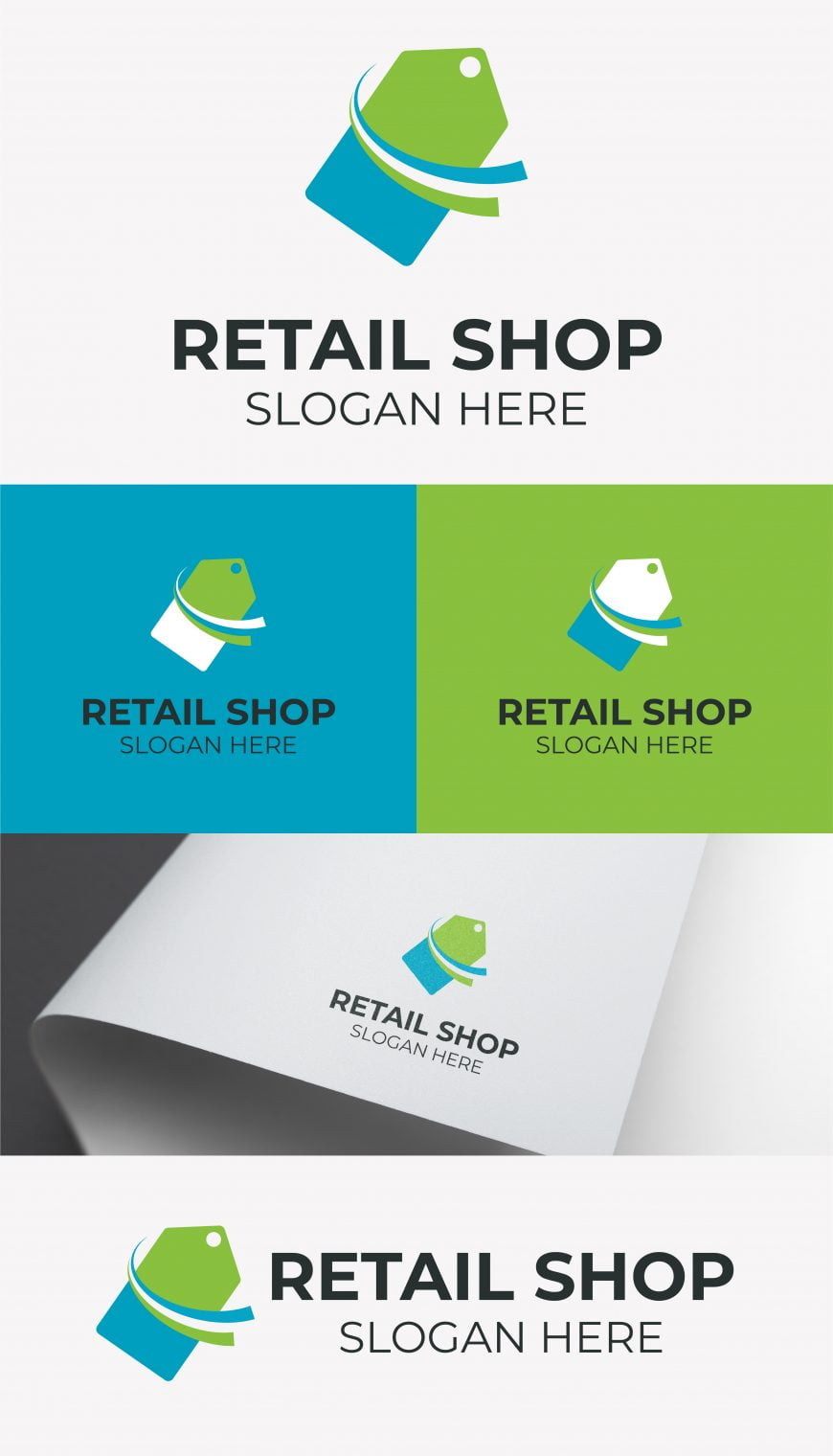 free retail logo design template