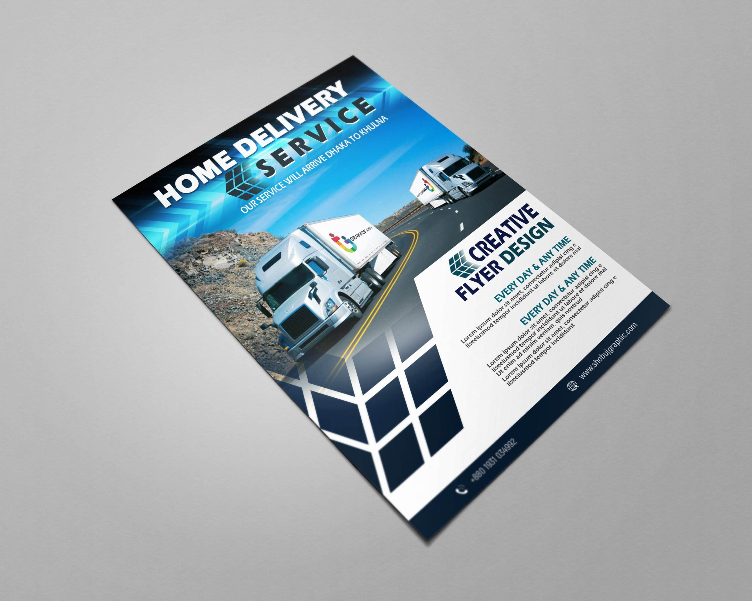 Home delivery free flyer design