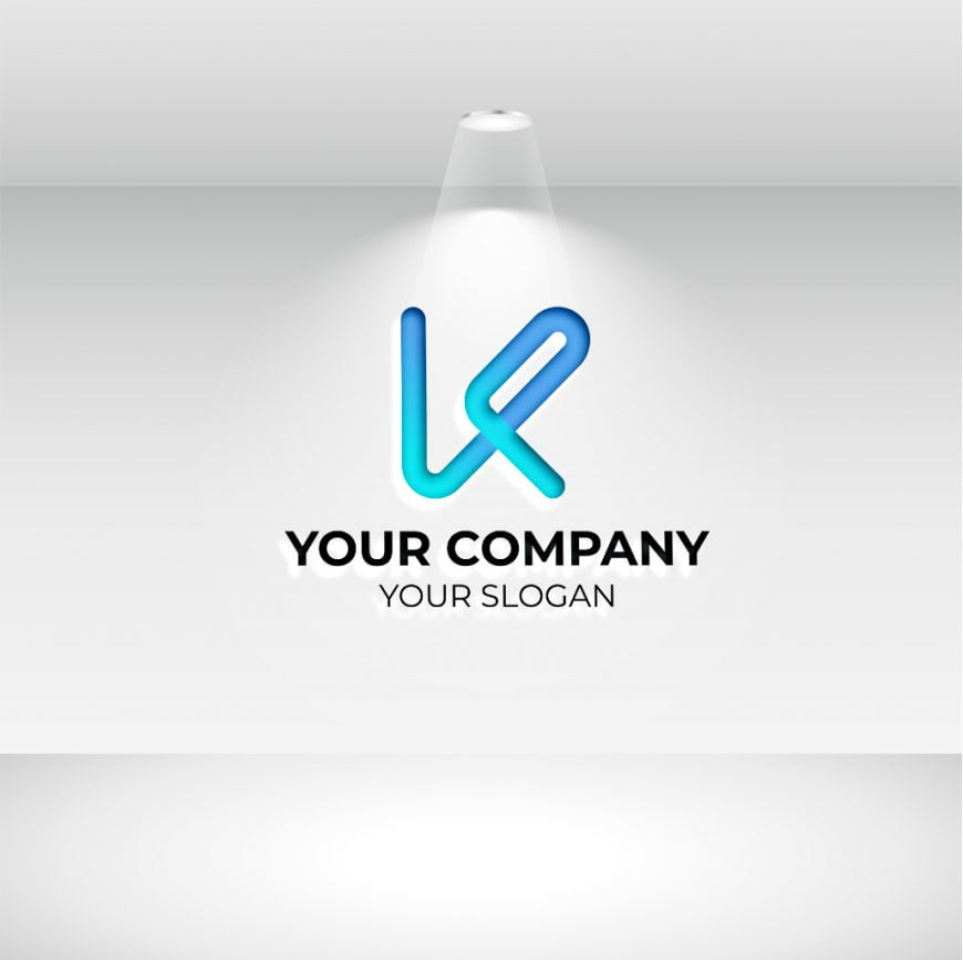 k letter logo with white background