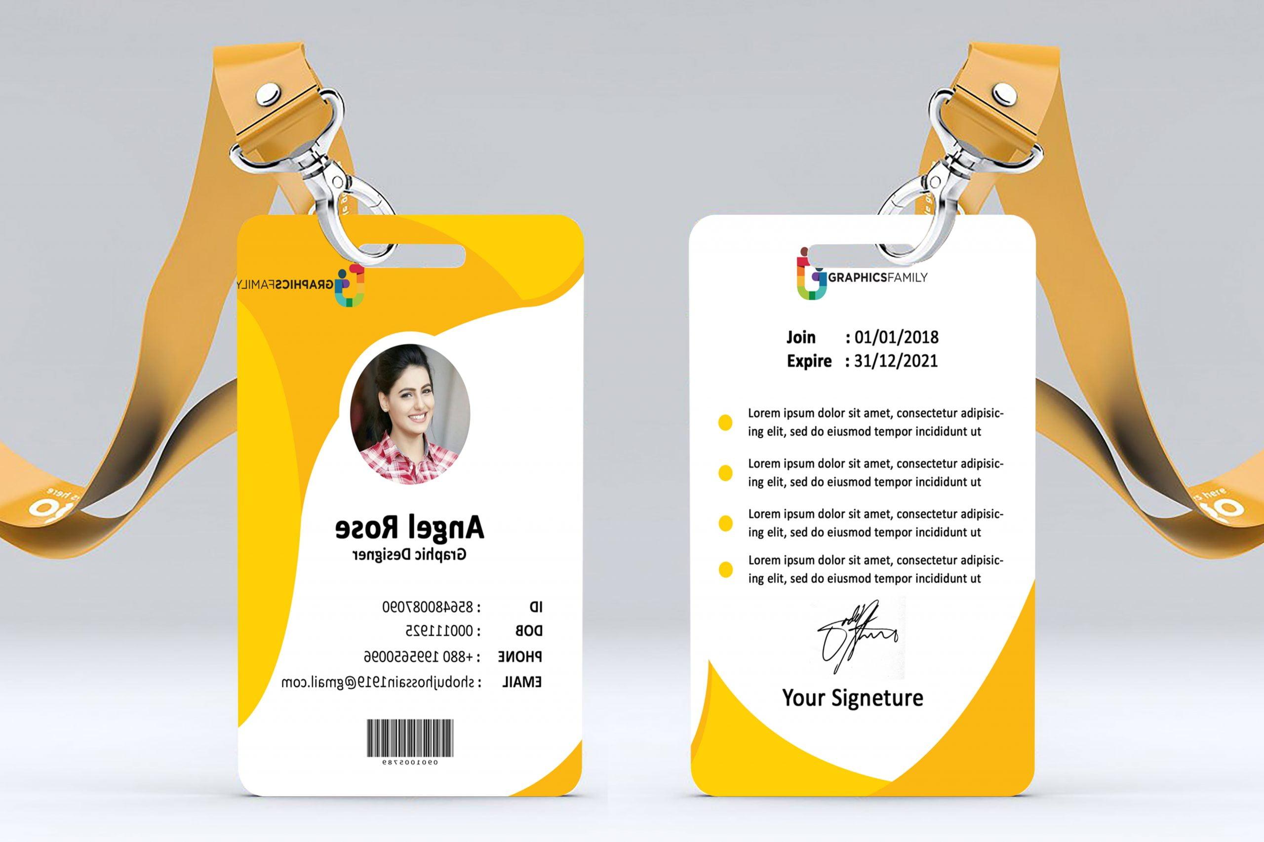 modern identity card presentation