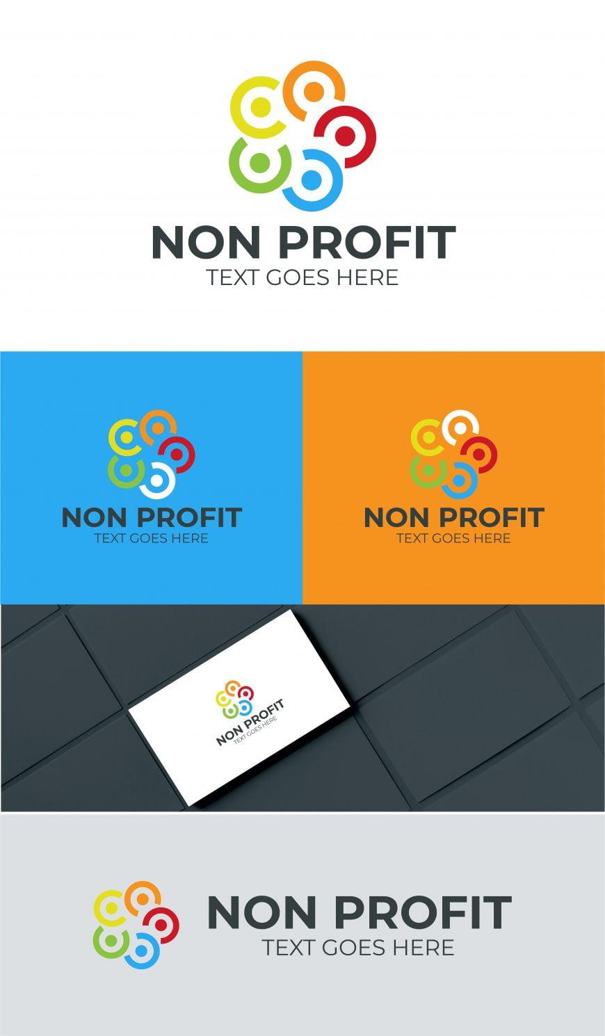 non profit charity logo template