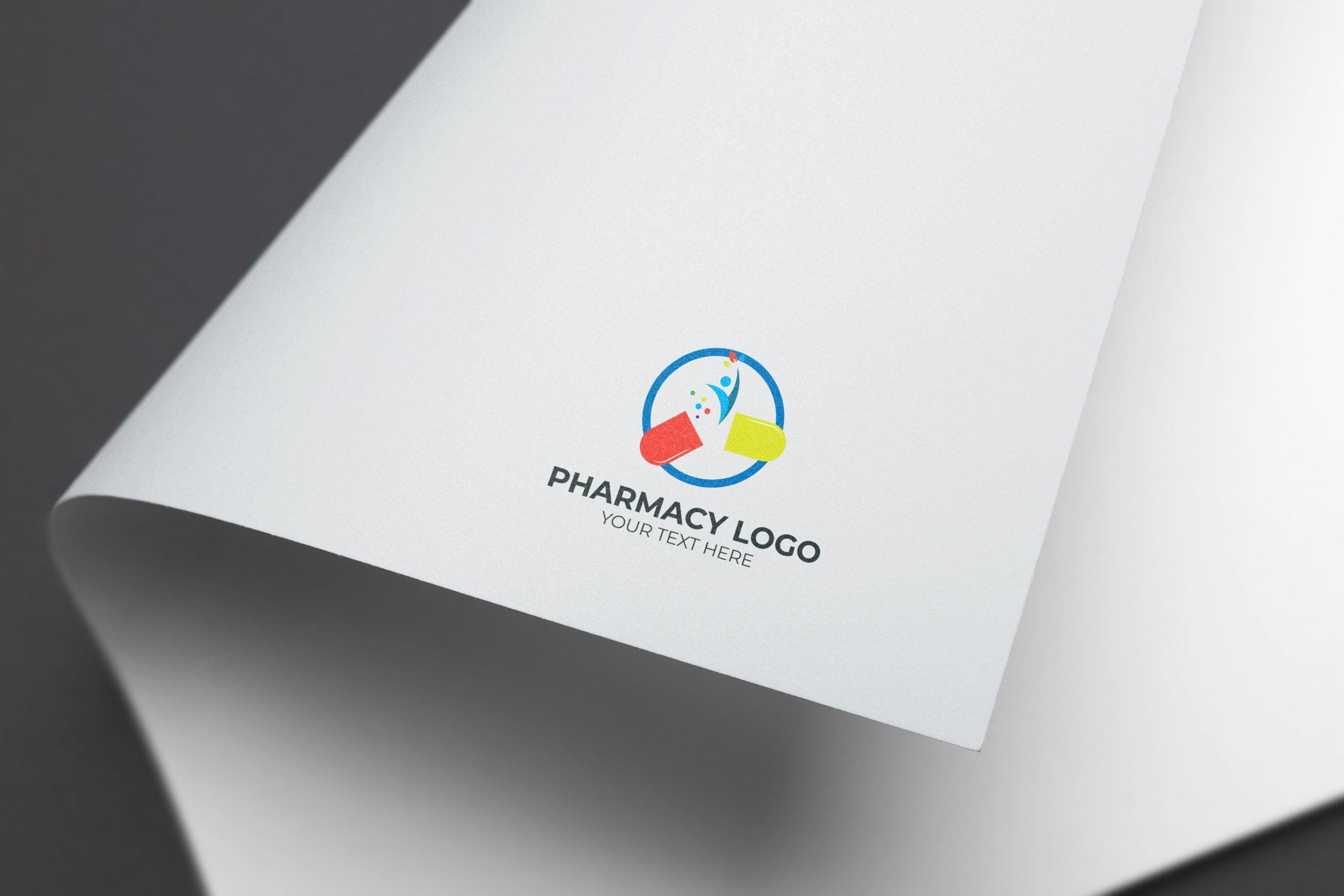 pharmacy logo paper mockups