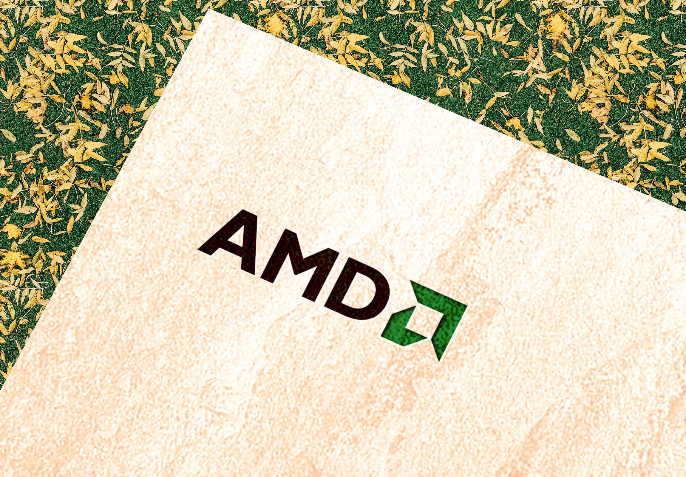 AMD Logo on paper logo mockups