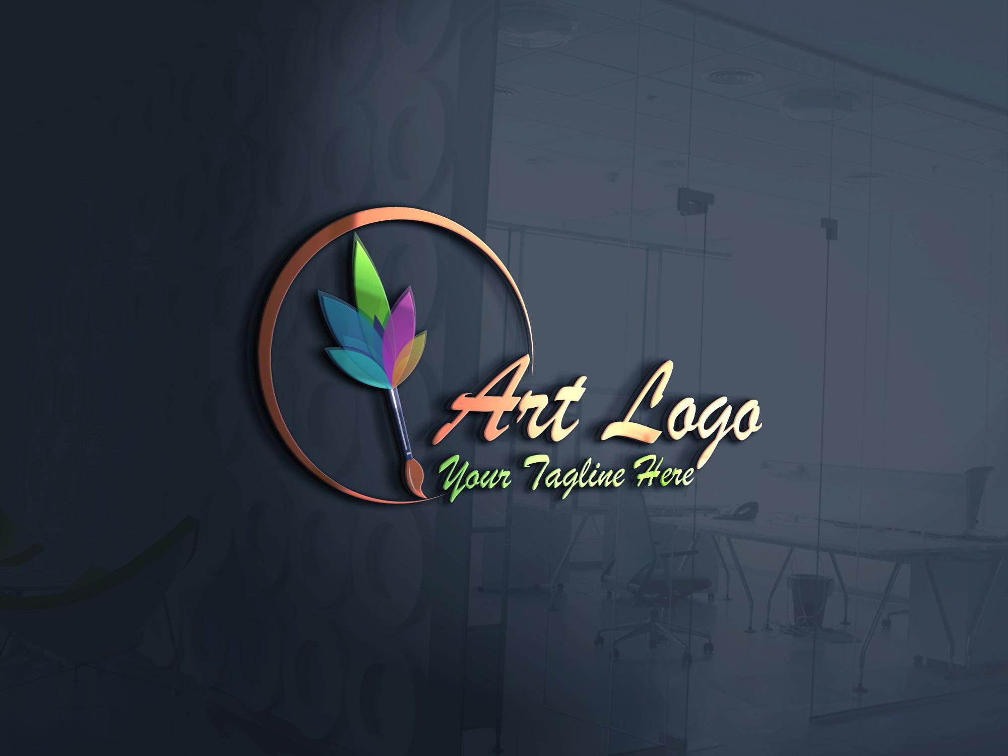 Art Logo - Easily Make Artistic Logo Design on 3d glass window