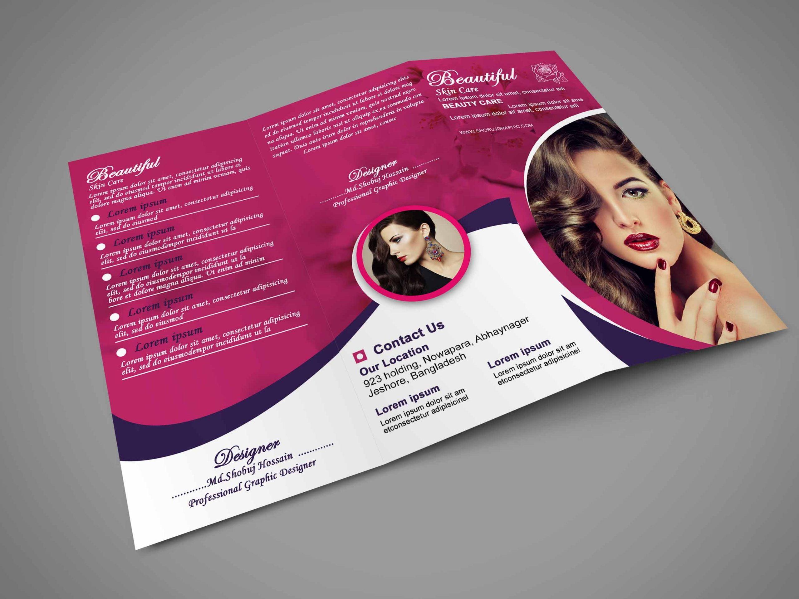 Beautiful Skin Care Tri Fold brochure