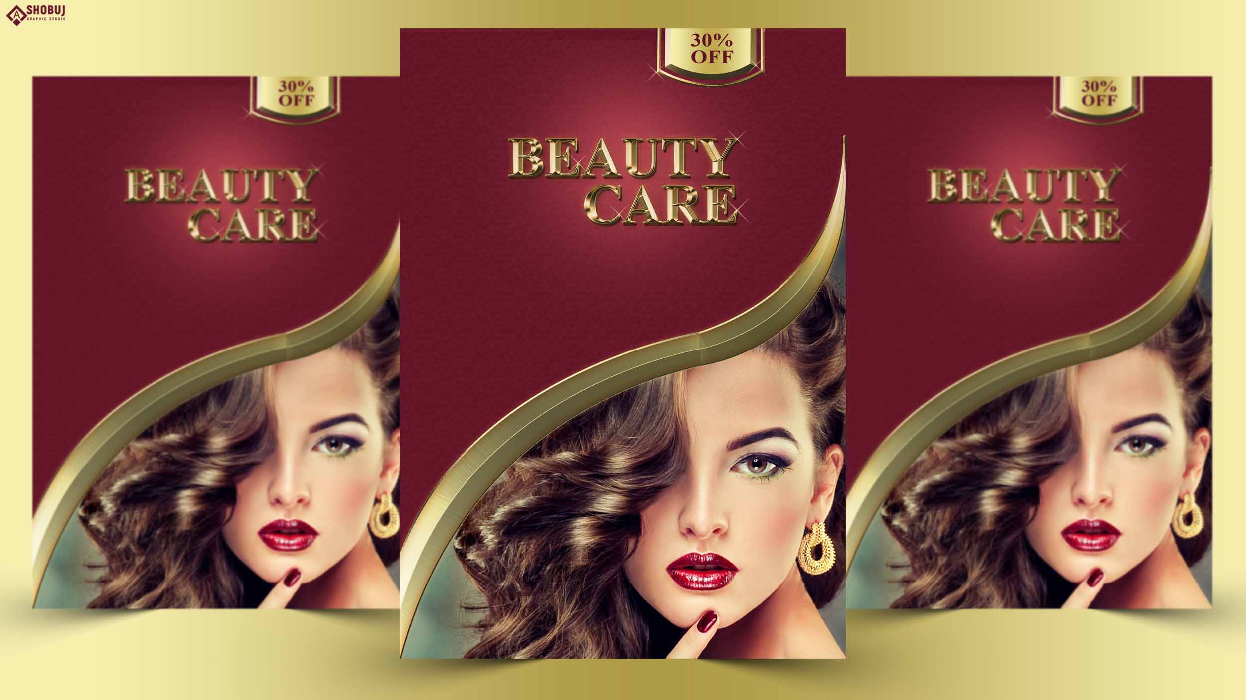 Beauty Care Flyer Design Template