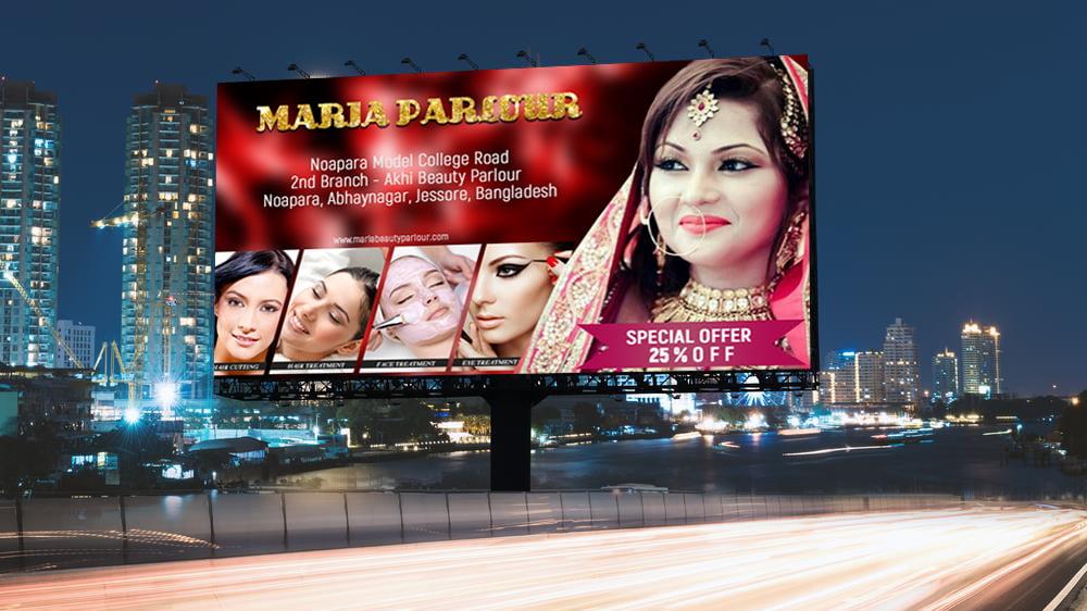 Beauty Parlour Billboard Banner Design Free Psd