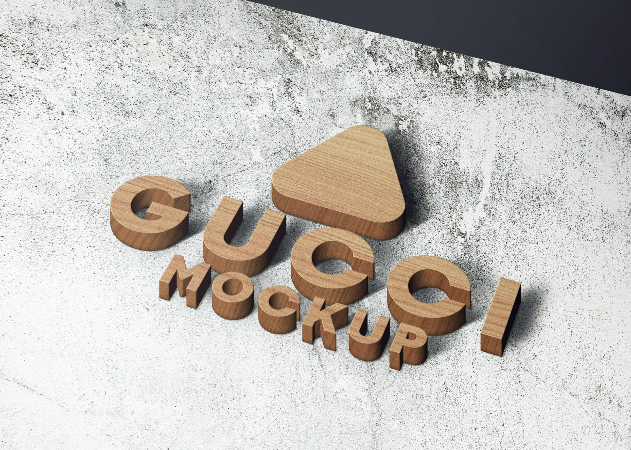 Gucci on realistice 3d wall