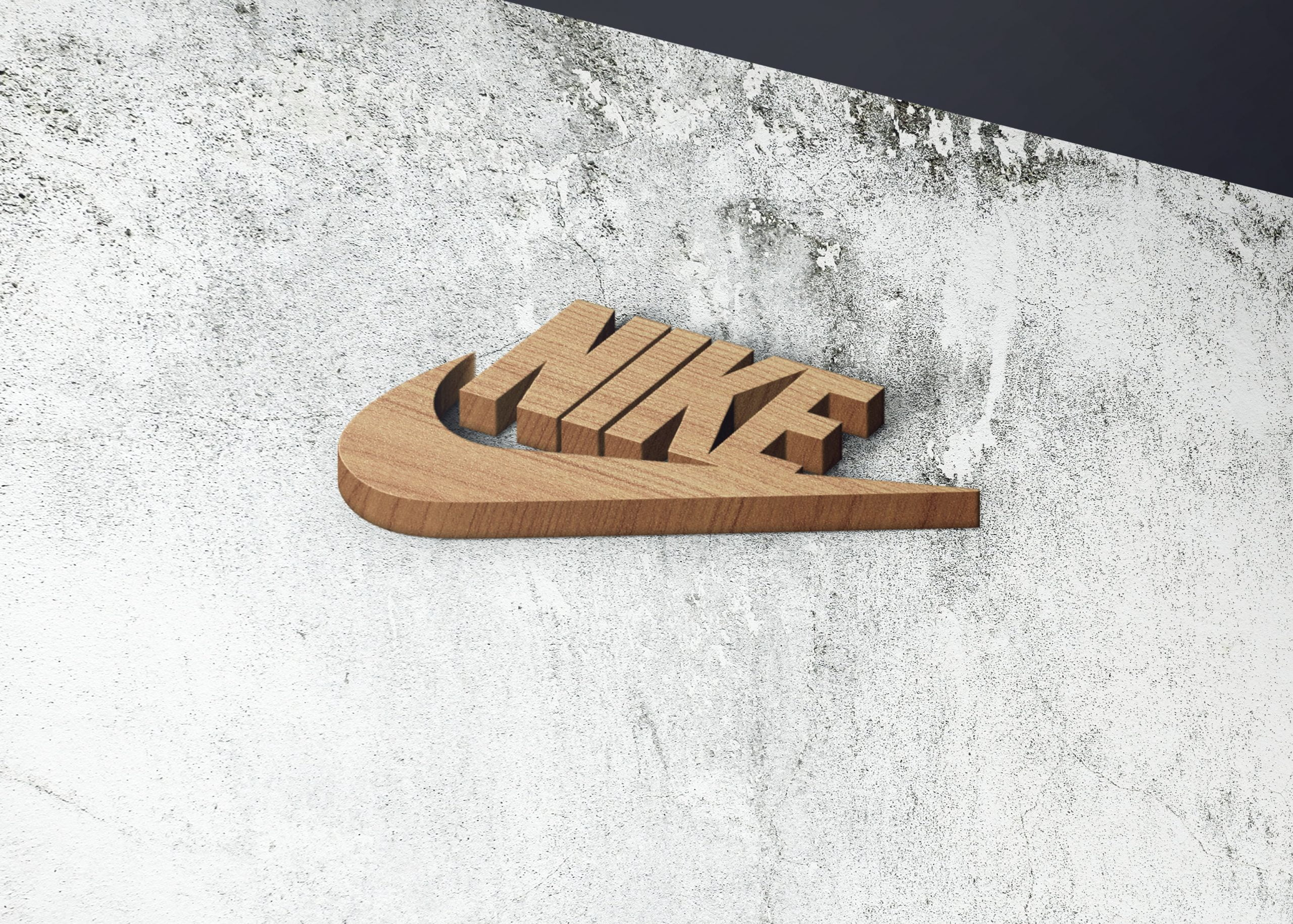 Nike on realistice 3d wall