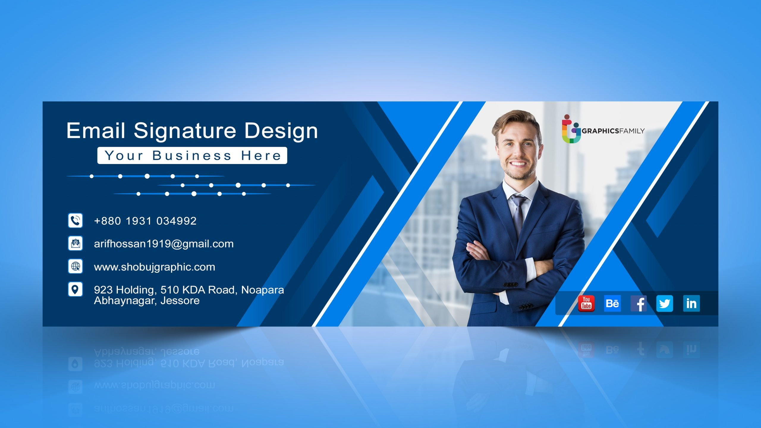 Best Corporate email signature template Jpeg