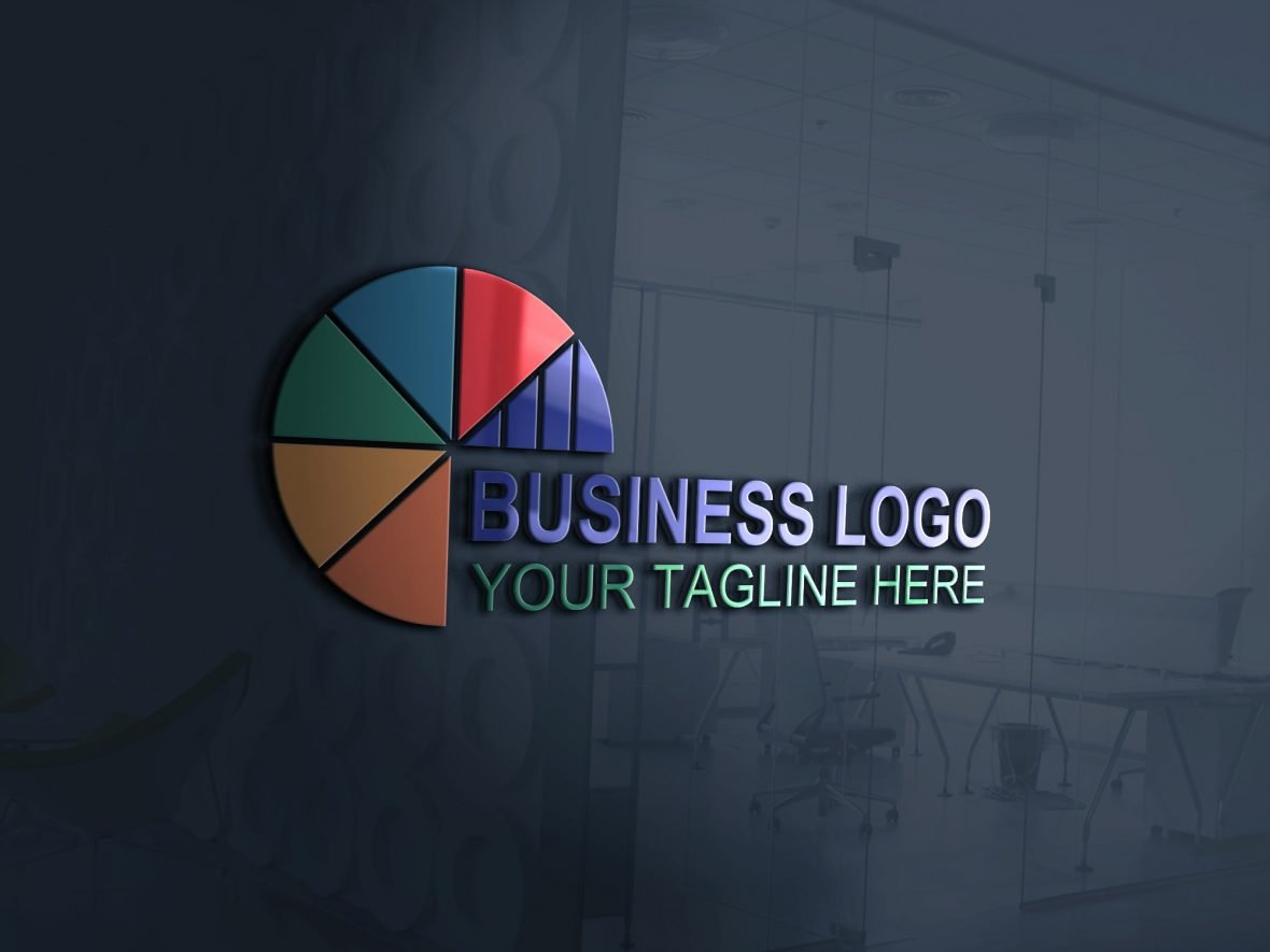 Business-marketing-logo-design-template-on-3d-glass-window