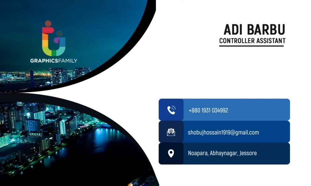 Controller Assistant Business Card Design Back Part