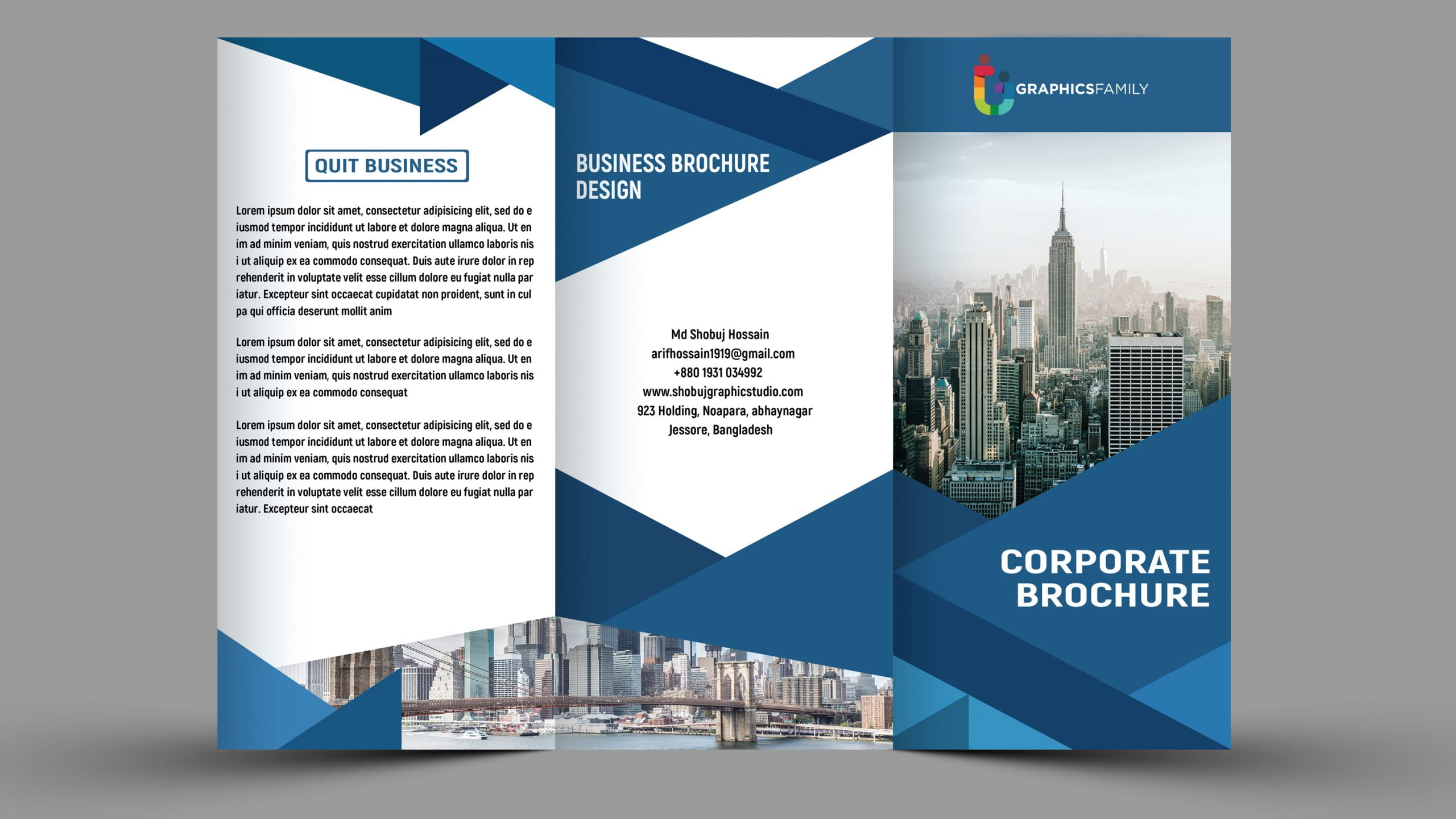 Corporate Business Tri fold Design