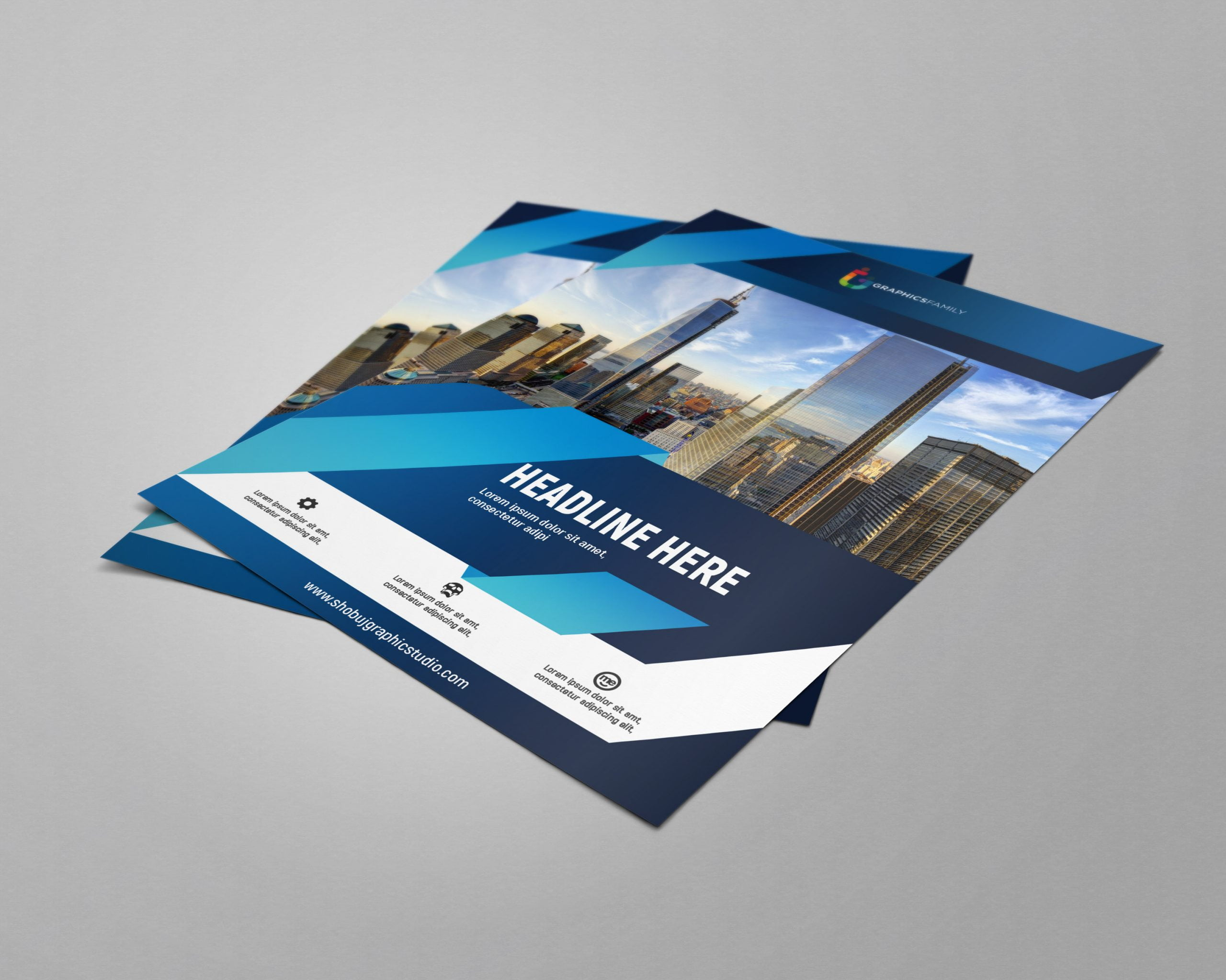 Corporate Flyer Design with Flat Style