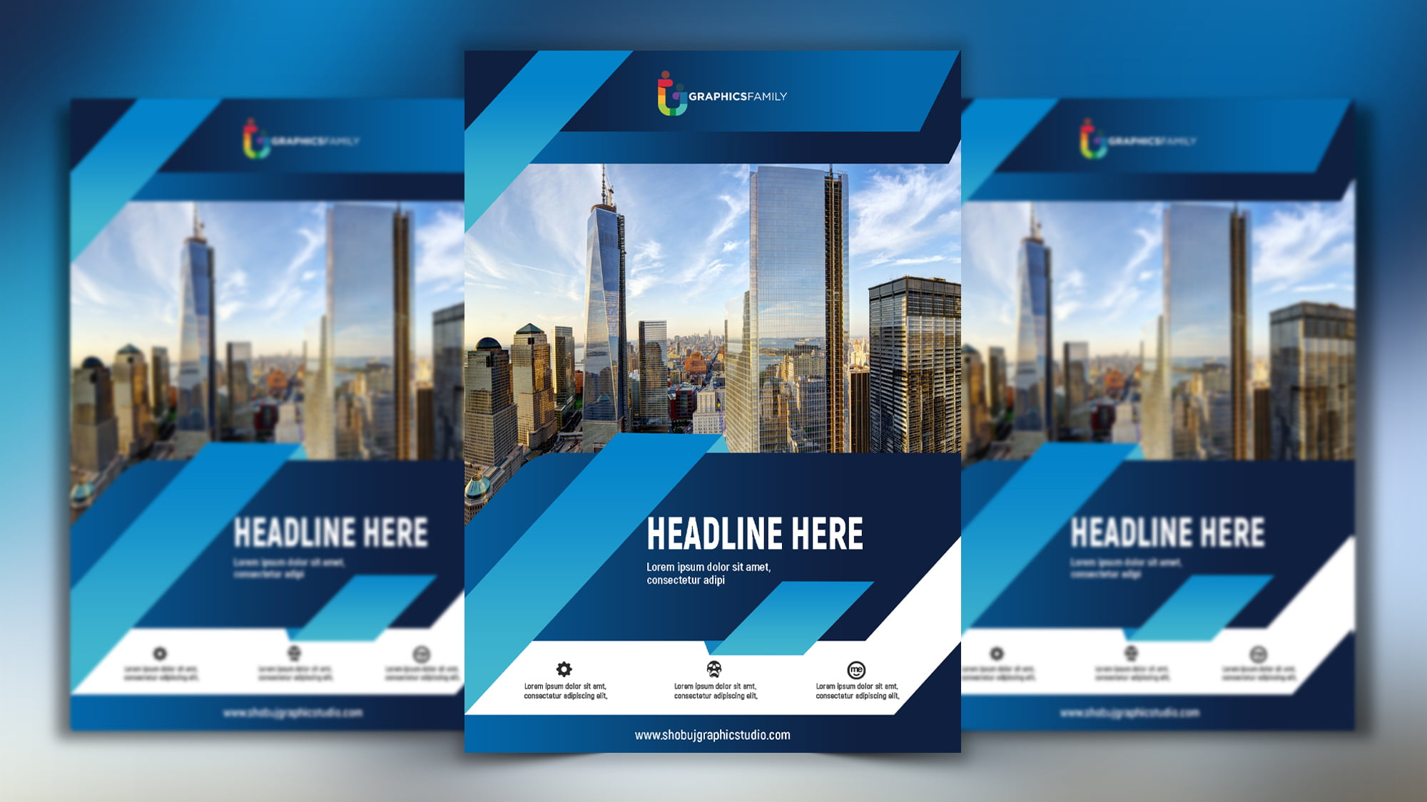 Corporate Flyer with Flat Style