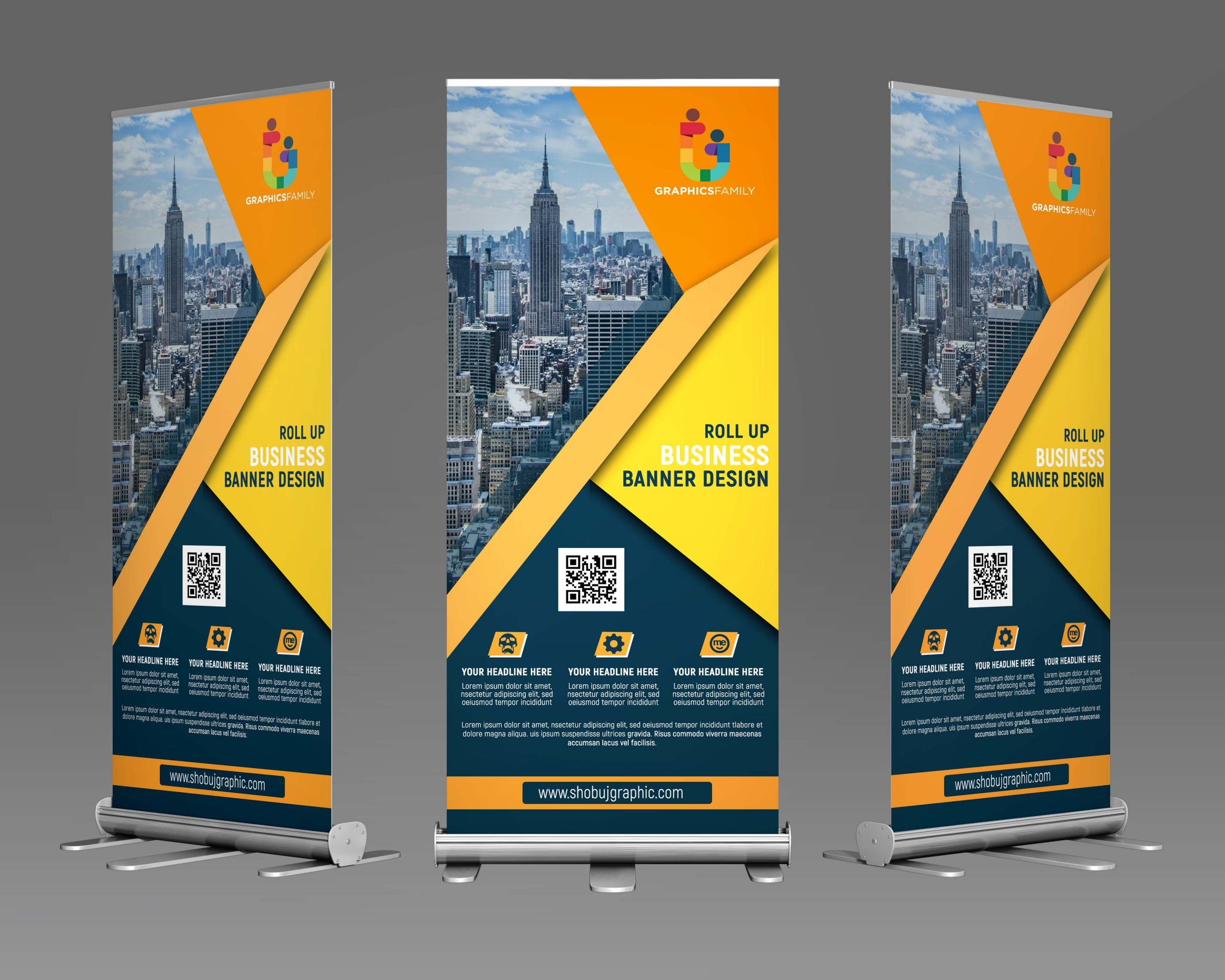 Corporate Roll Up Banner Design