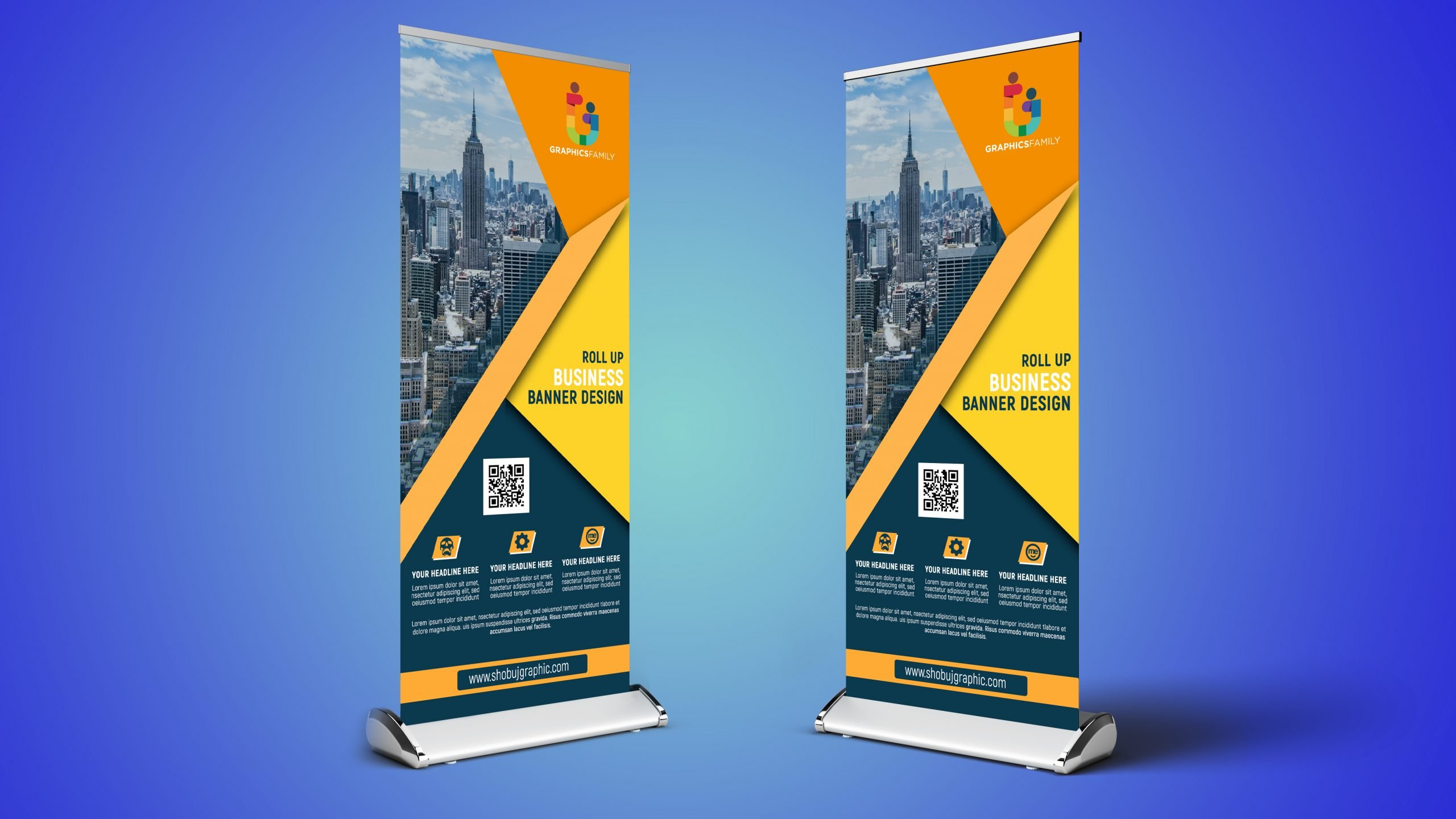 what is a roll up banner