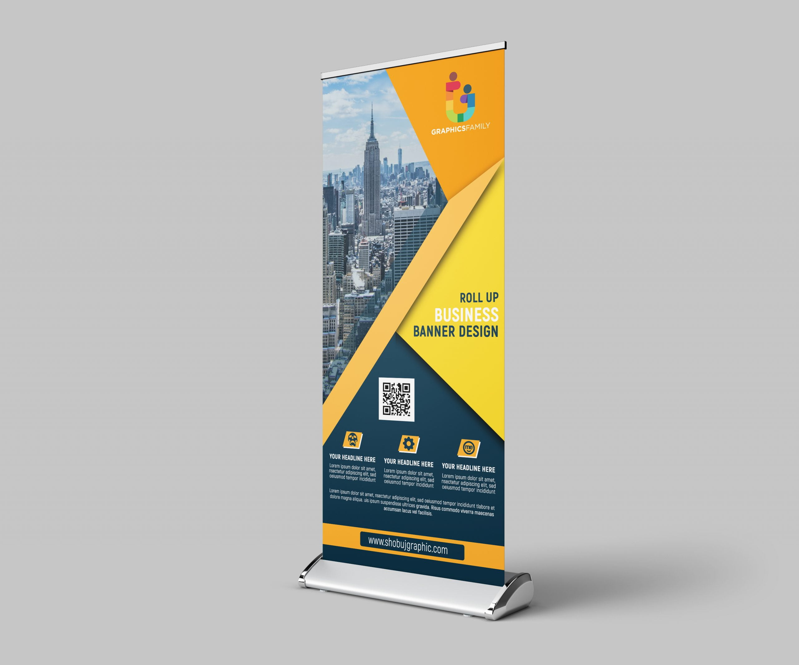 Corporate Roll Up Banner Template psd