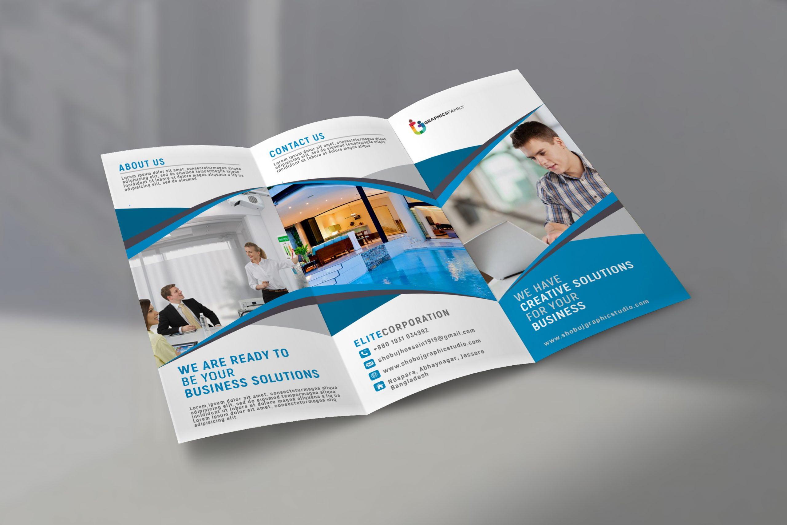 Corporate Tri Fold Brochure Design
